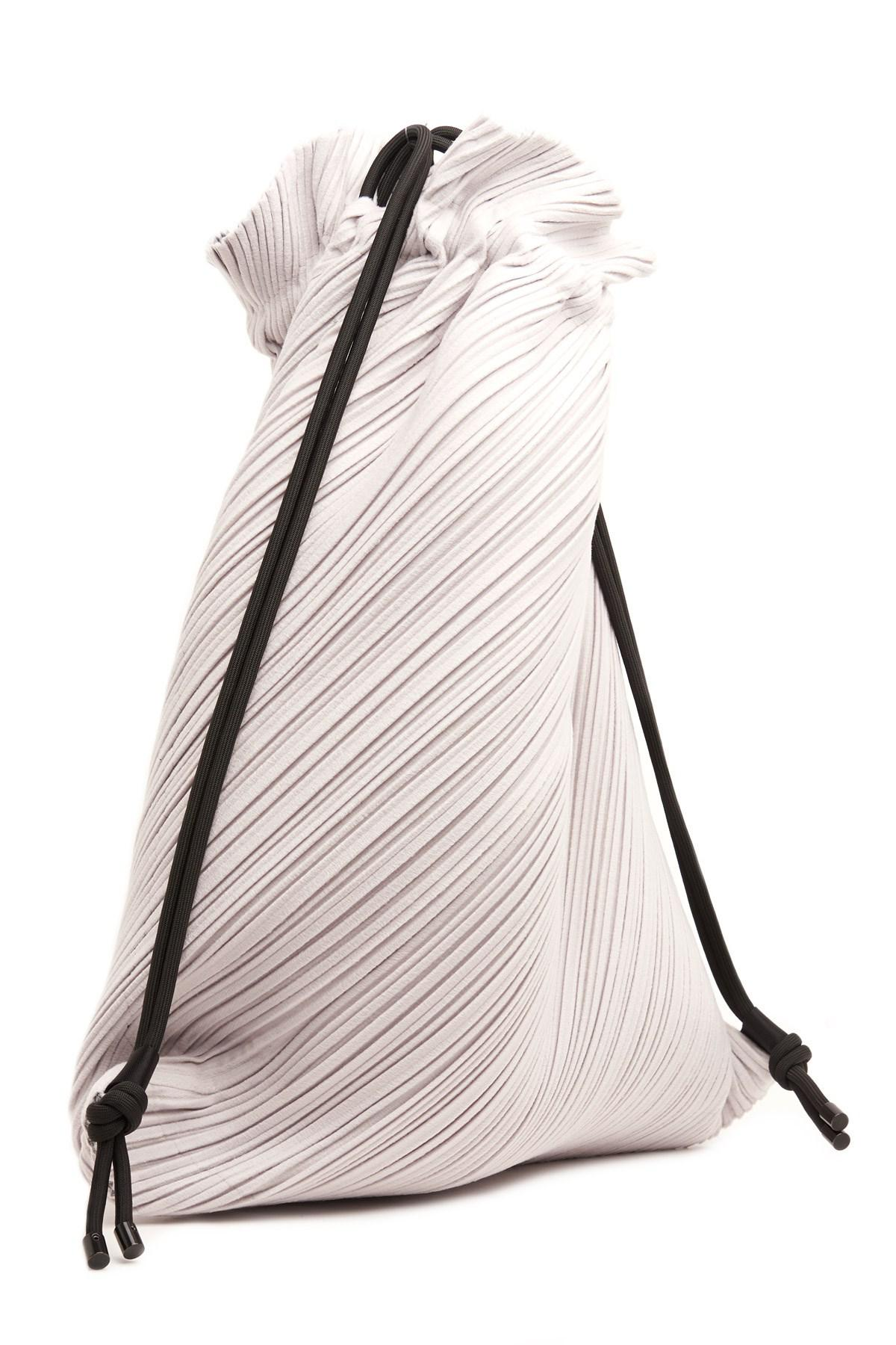 426881be75bf Lyst - Pleats Please Issey Miyake  suede Link Drawstring Pleat  Backpack