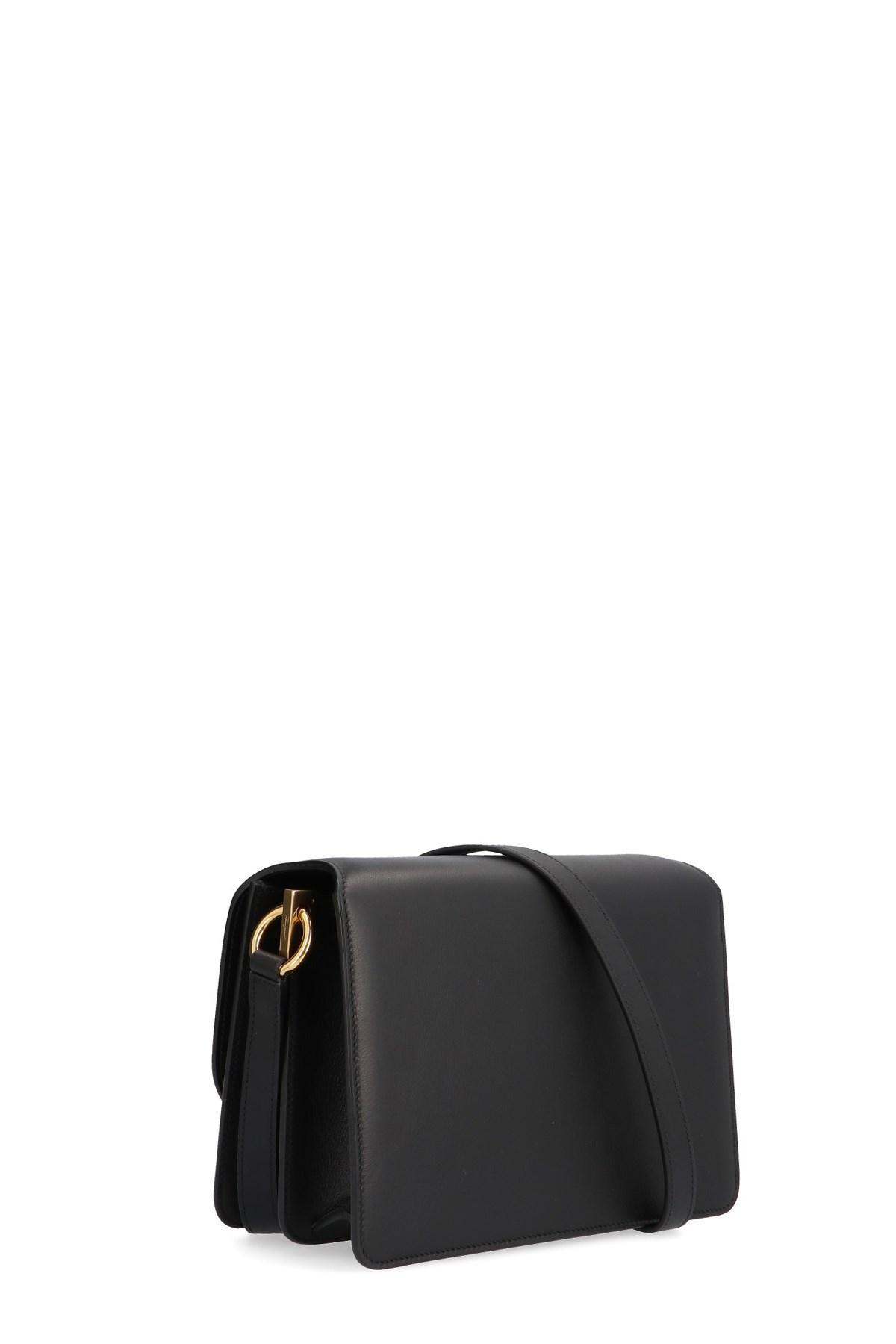 Lyst - Ferragamo  joanne  Crossbody Bag in Black 9194438ac4775