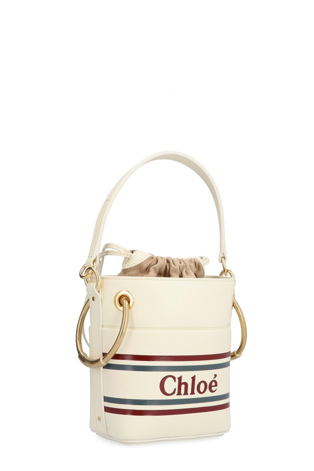 Chloé - White  roy  Bucket Bag - Lyst. View fullscreen 667f672e276ea