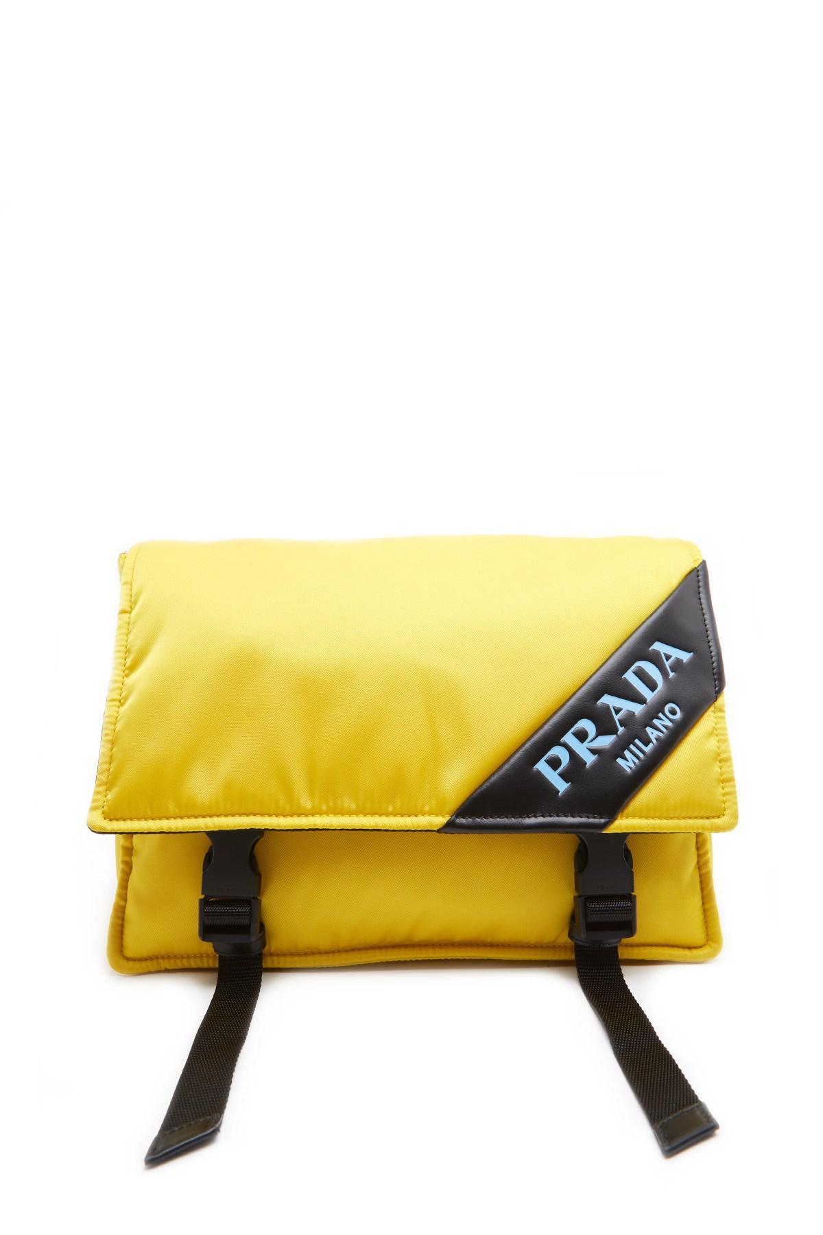 8c551d44cbba sweden prada yellow messenger crossbody bag lyst. view fullscreen 1dd10  2d685