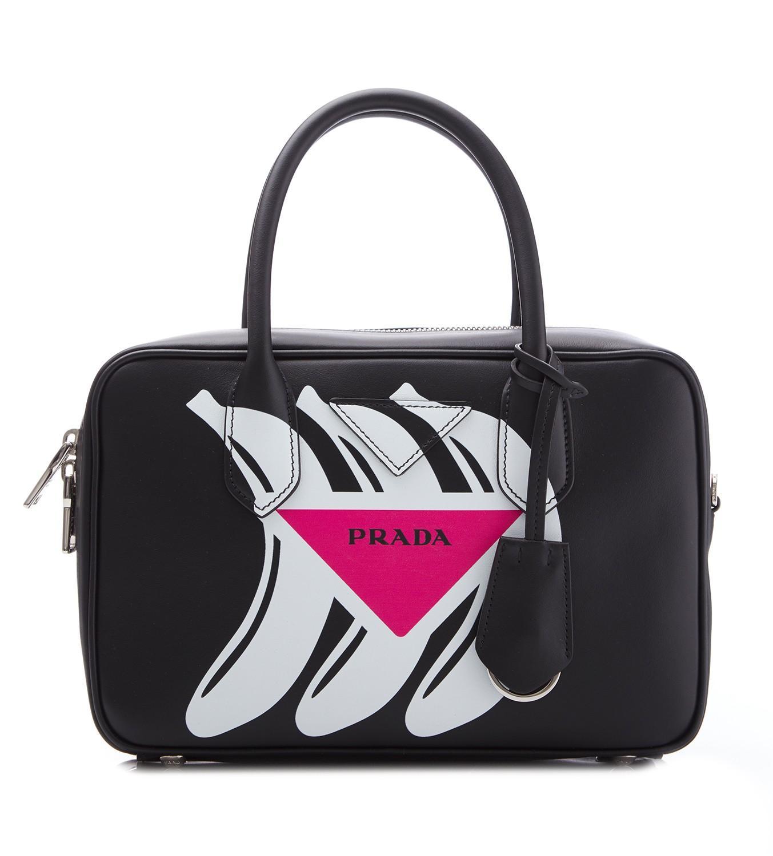 0af7adf600c7 Prada - Black City Banana Top Handle Bag - Lyst. View fullscreen