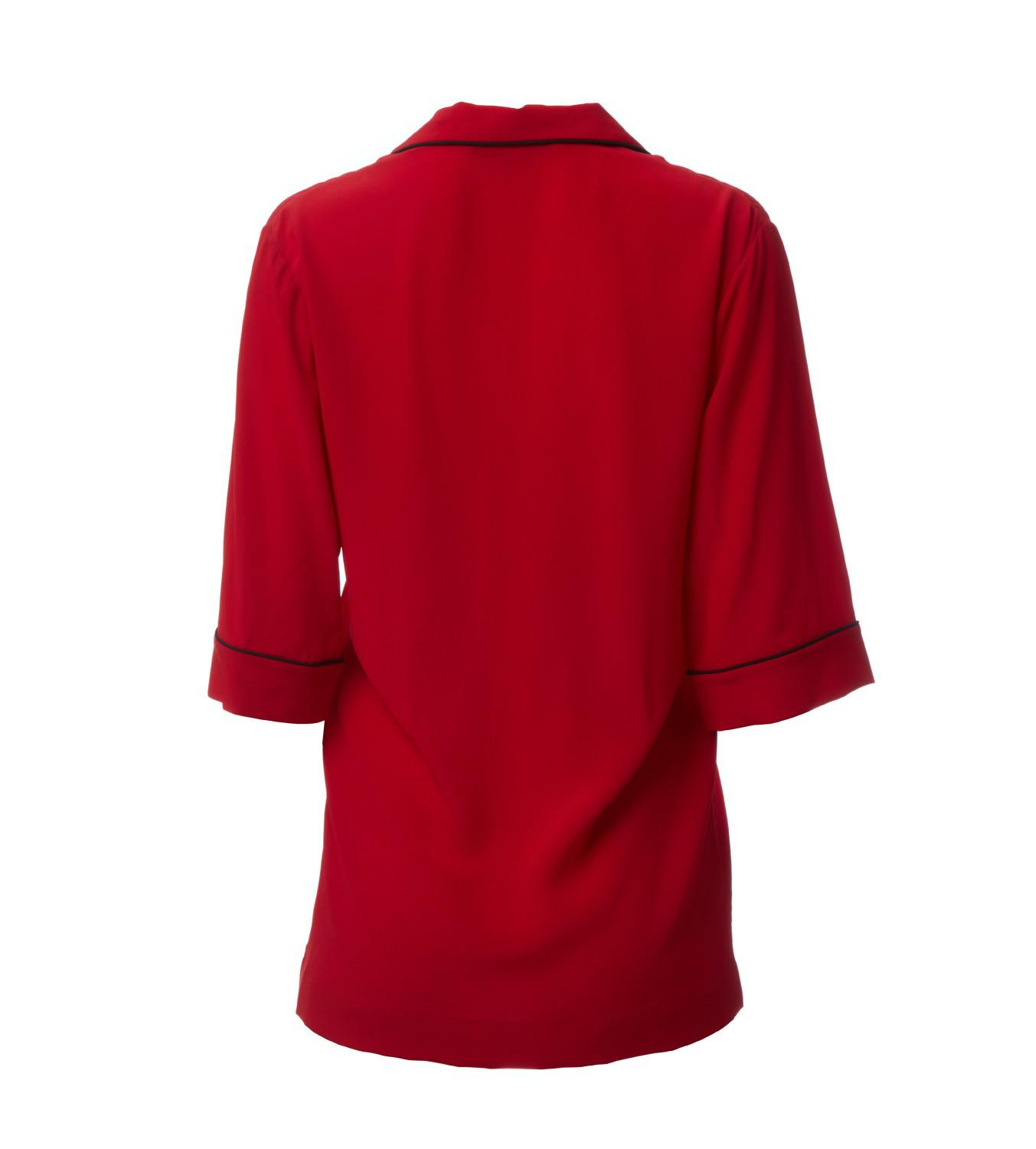 b5c7dc47d4bd3 Lyst - Stella McCartney Helena Red Silk Shirt in Red
