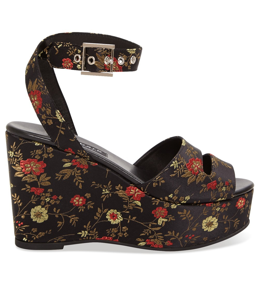 Newbark maggie embroidered floral wedge lyst