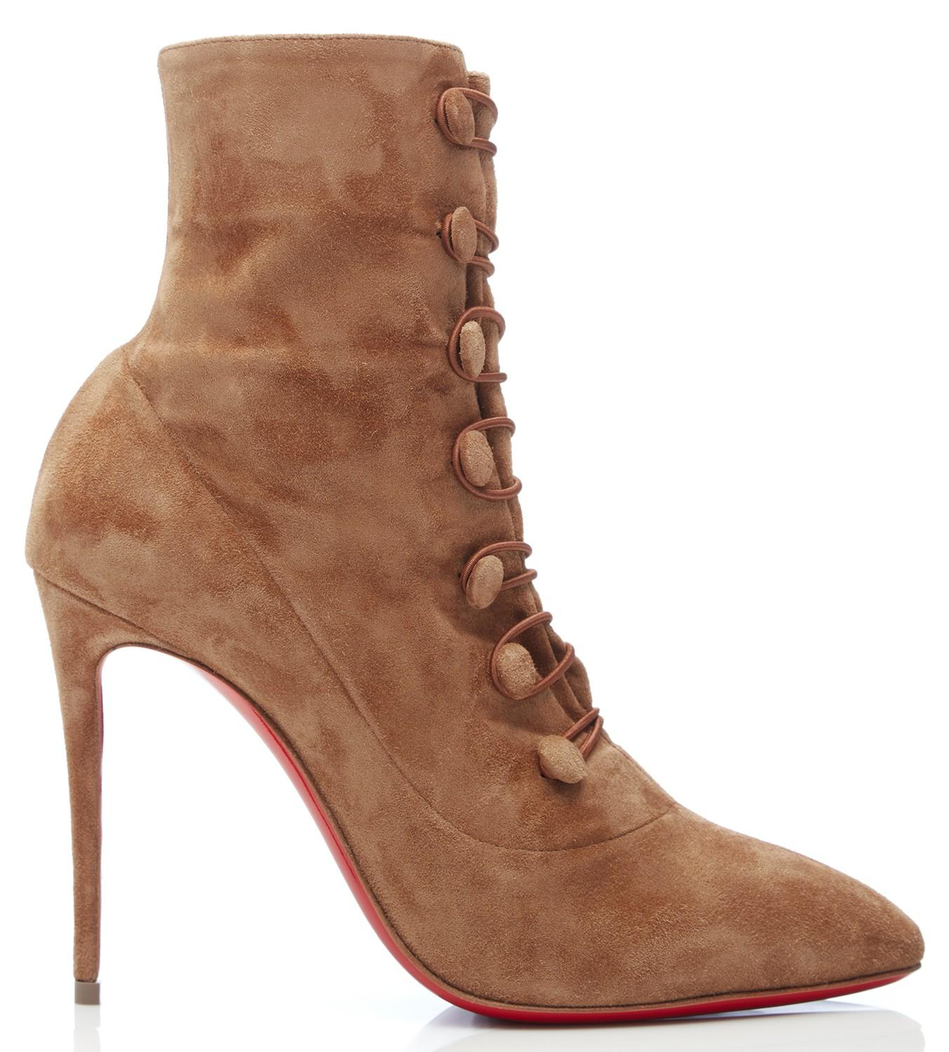 9d046ad674f5 Lyst - Christian Louboutin French Tutu Brown Suede Ankle Boots in Brown