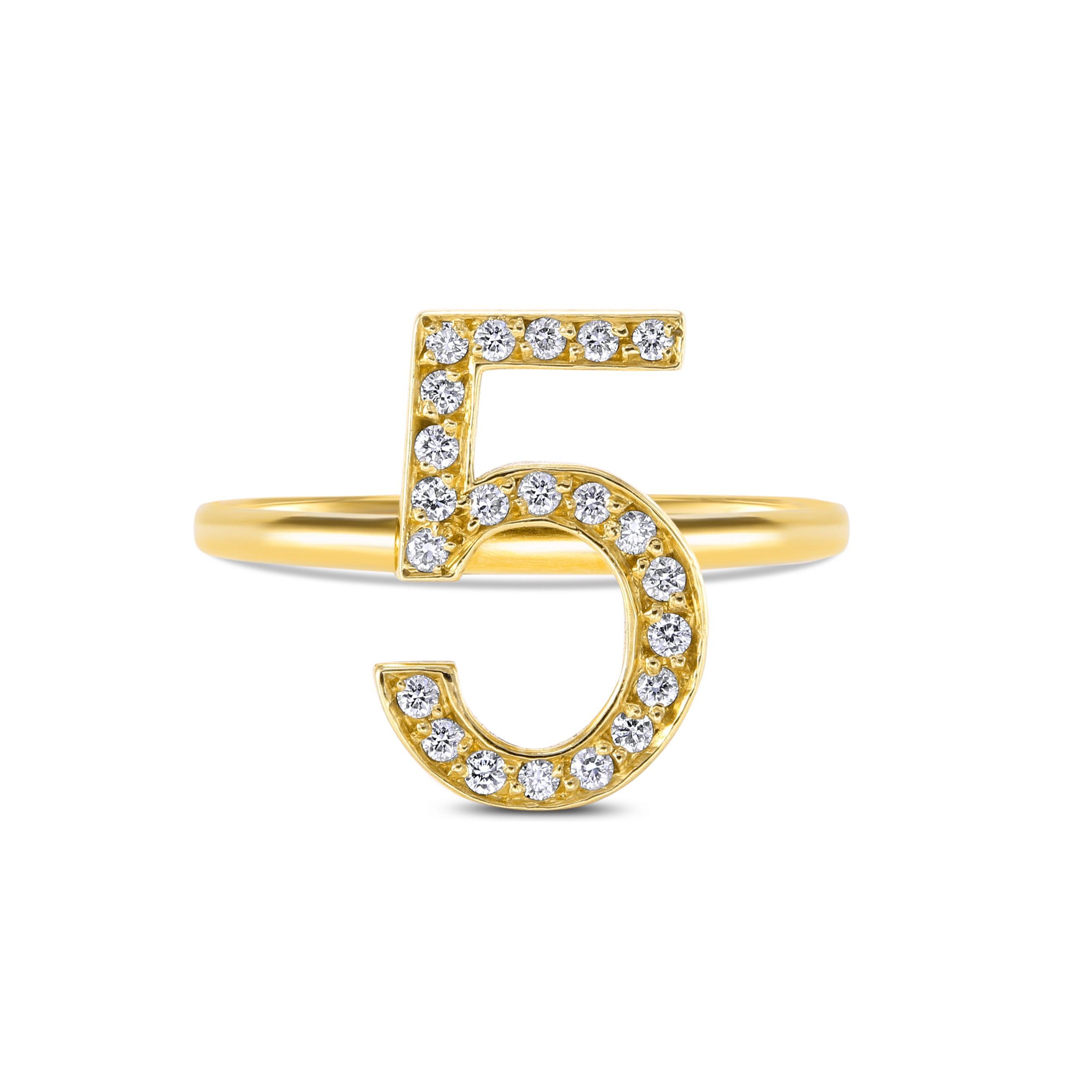 Stéphanie Deydier Lucky Number 5 Ring in Metallic - Lyst