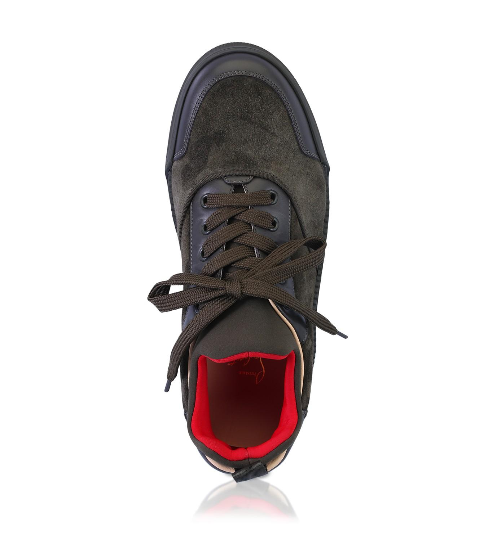 9c1a458af1a Christian Louboutin - Aurelien Black Suede Sneakers for Men - Lyst. View  fullscreen
