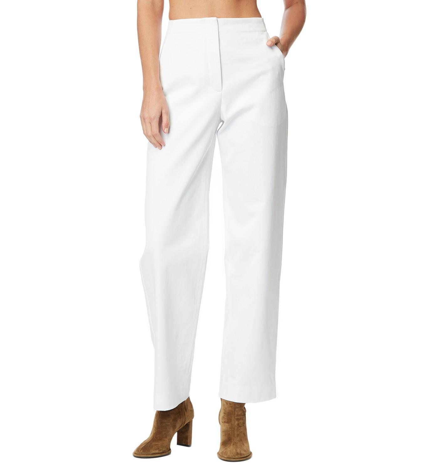 ed6a7d575c59b9 ... Taylor White Cotton Pants - Lyst. View fullscreen