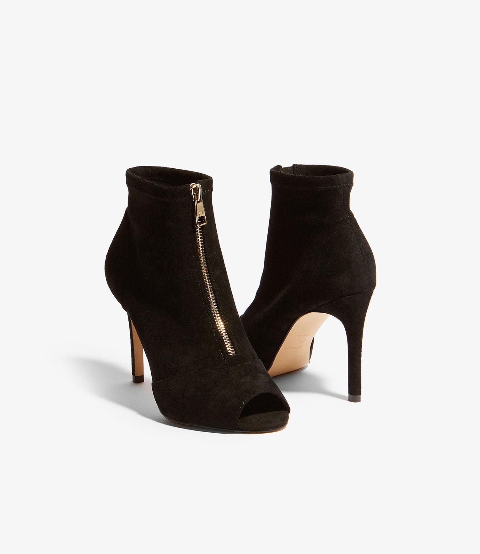 41e784cc0577 Karen Millen - Black Peep-toe Boots - Lyst. View fullscreen