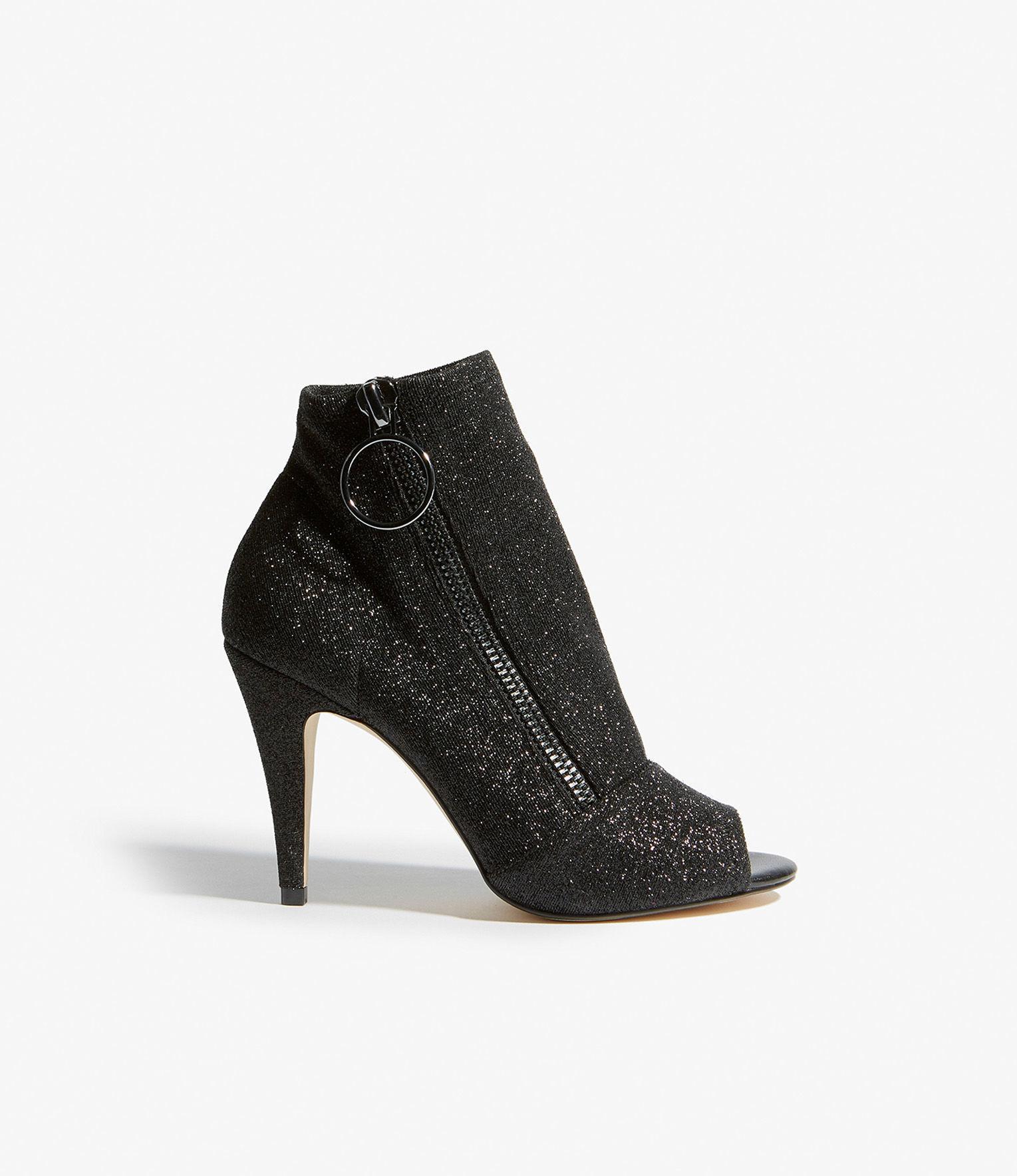 d33d88615d Lyst - Karen Millen Peep-toe Boots in Black