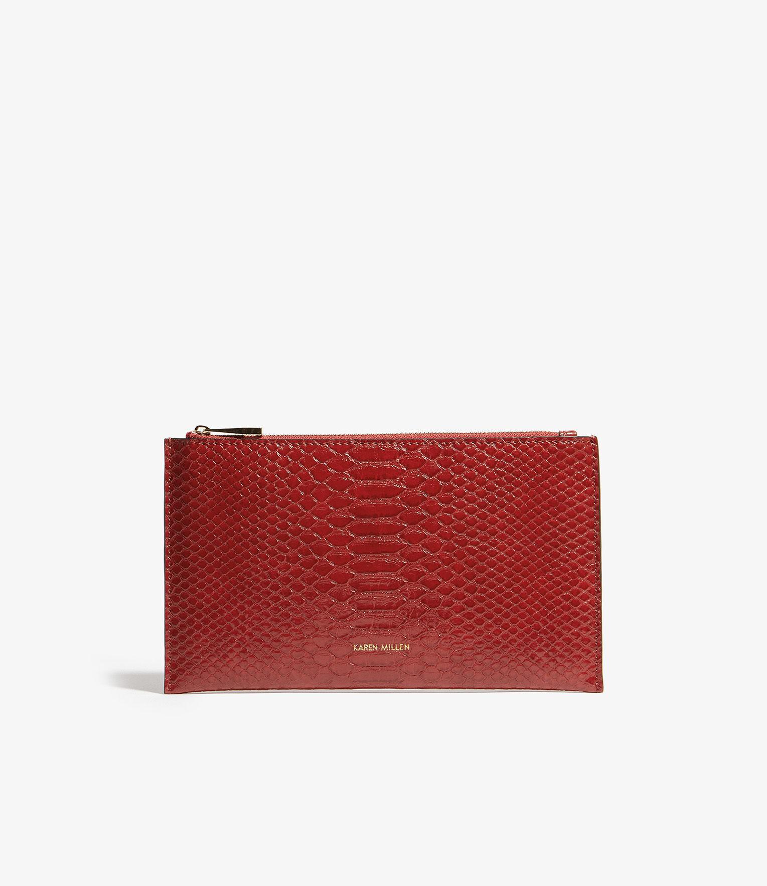 f99944f808a Karen Millen Textured Pouch in Red - Lyst