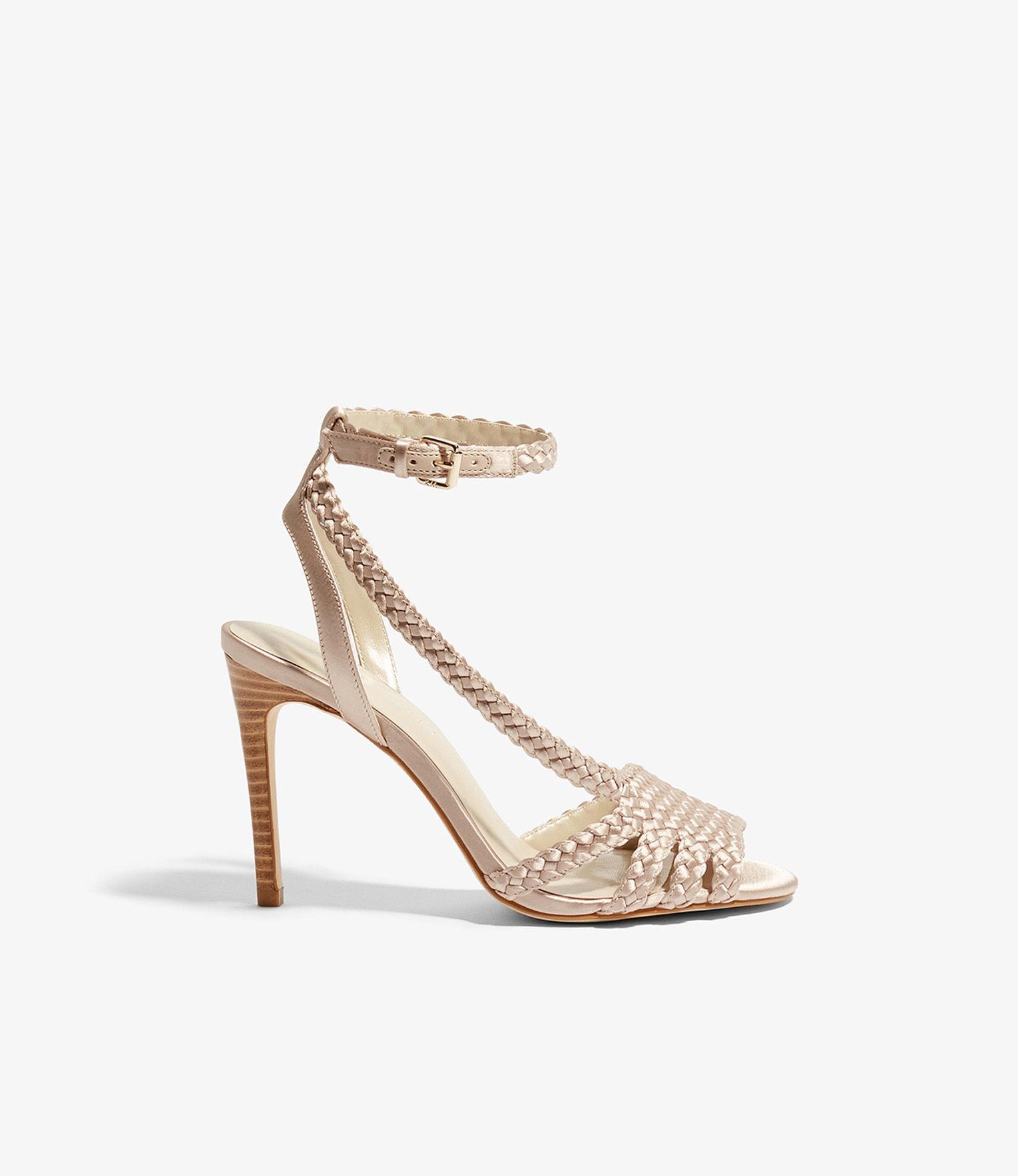 Karen Millen Women's Woven Satin High Heel Sandals