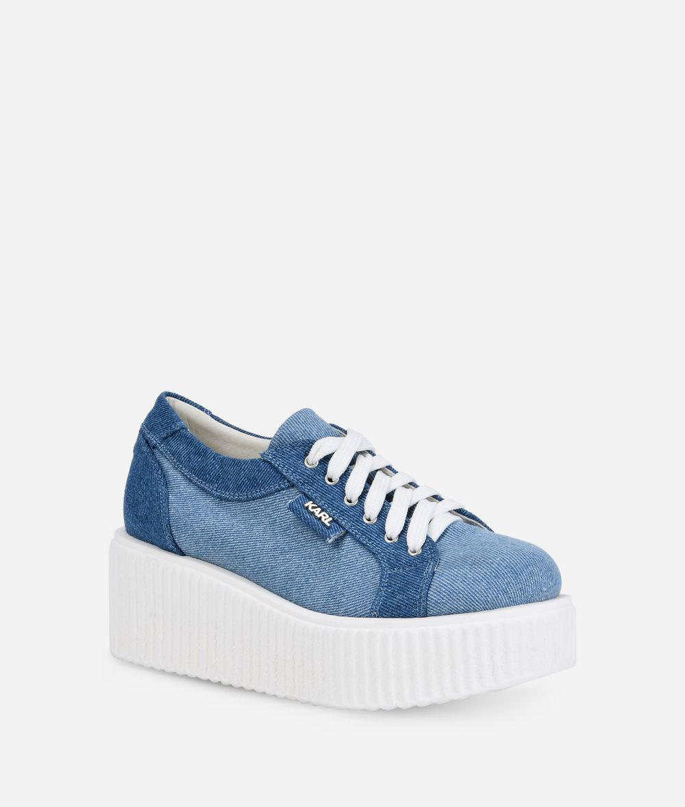 KREEPER Denim Lace Shoe Karl Lagerfeld O9wvnwi2wm