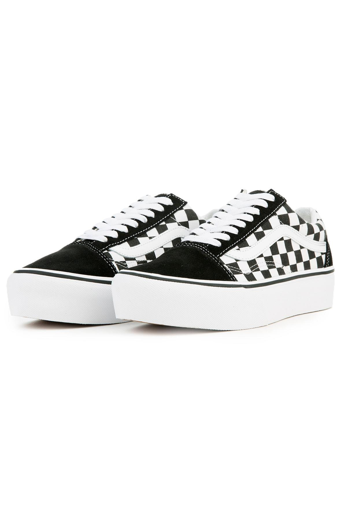 287e7a6c980 Lyst - Vans The Women s Old Skool Platform In Checkerboard Black And ...