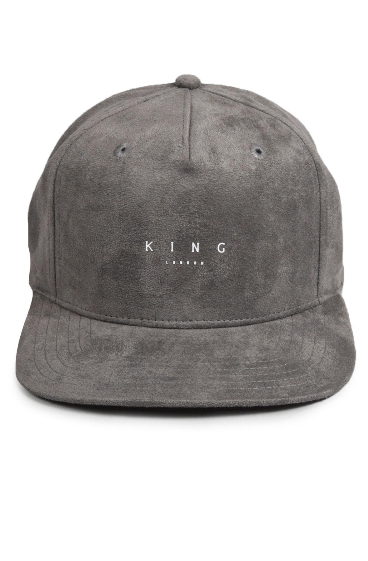 82e4bfc89c9 Lyst - KING LONDON Stepney Snapback Stone in Gray for Men