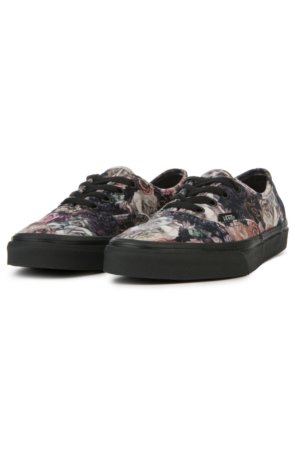 1e2ec4a26a5 Lyst - Vans The Women s Authentic Velvet Floral in Black