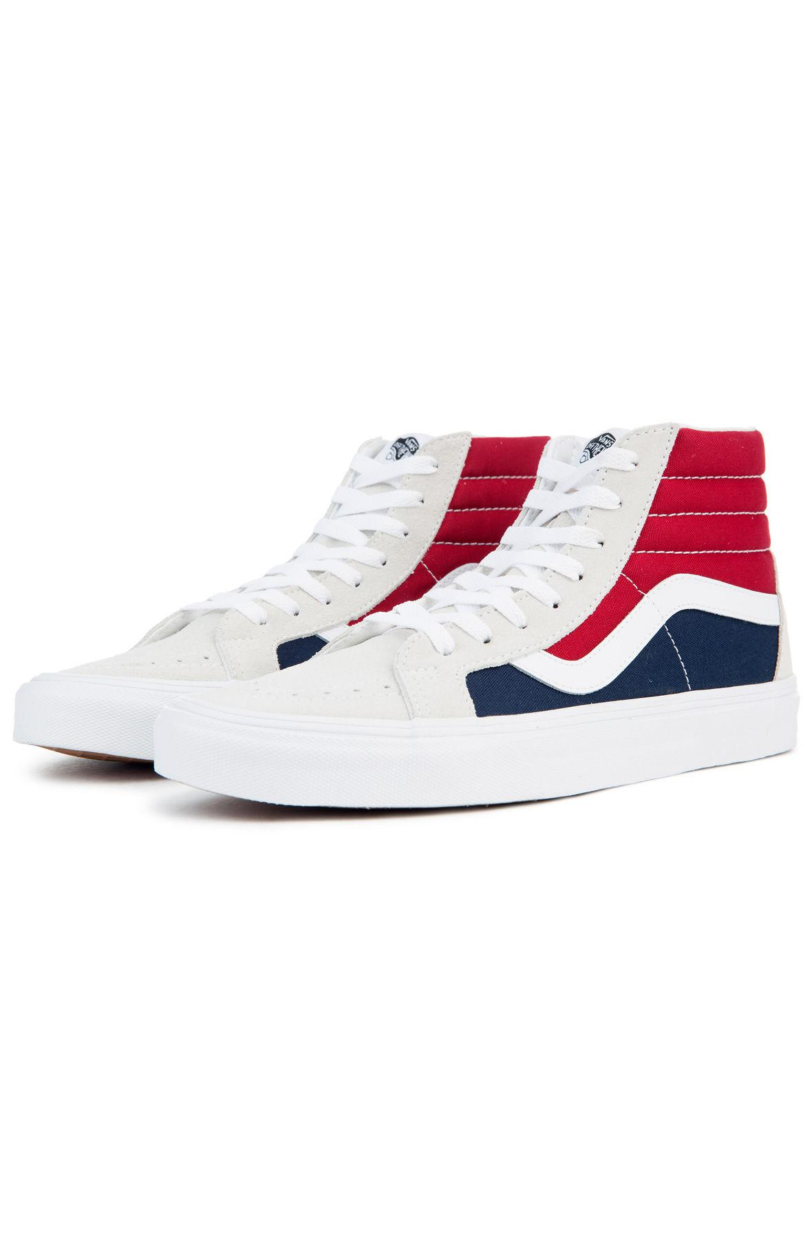 0d47a7091c02d1 Lyst - Vans The Men s Sk8-hi Reissue Retro Block In White  Red And ...