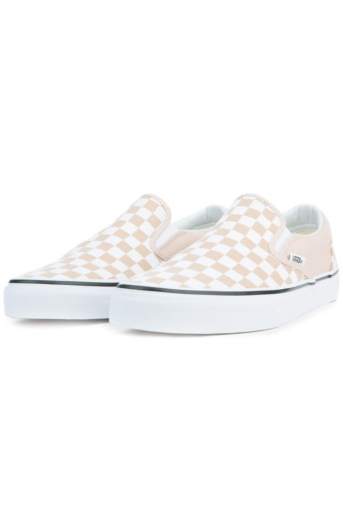 61d03326360 Lyst - Vans The Women s Classic Slip-on Checkerboard In Frappe And ...