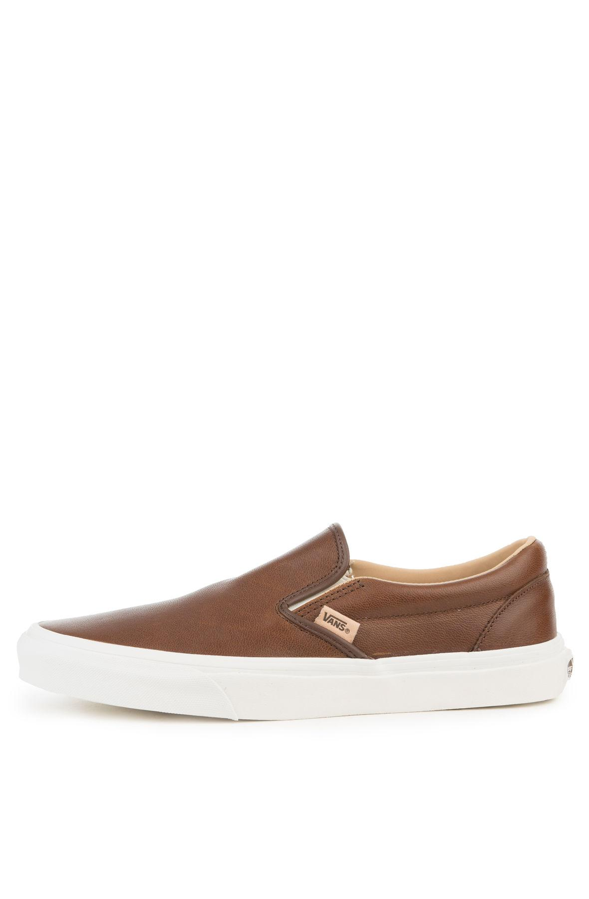 589a042ba0 Lyst - Vans The Classic Slip-on Lux Leather In Shaved Chocolate And ...
