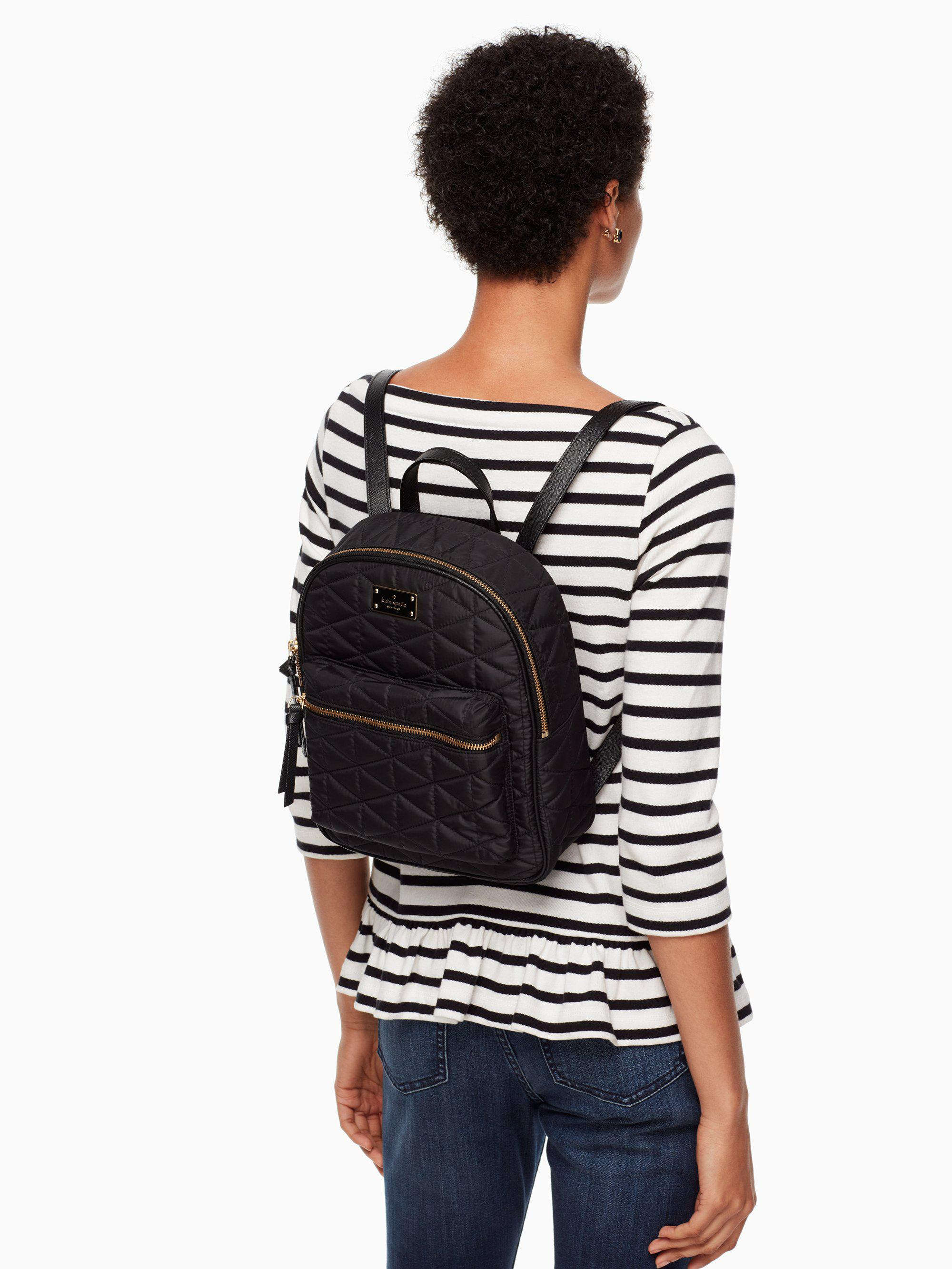ac1e153949af Lyst - Kate Spade Wilson Road Quilted Small Bradley in Black