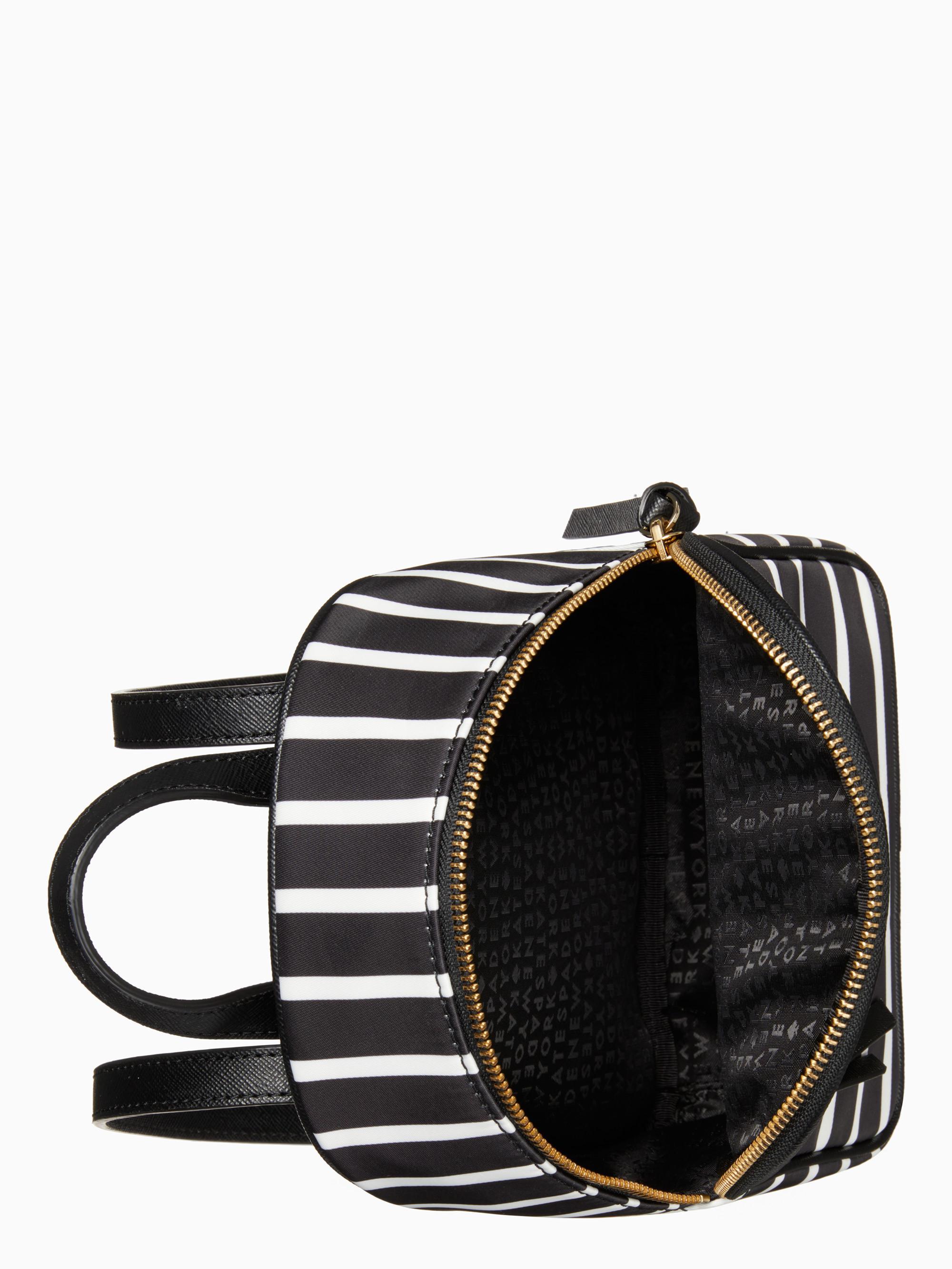 6b56fb905edb Lyst - Kate Spade Wilson Road Stripe Mini Bradley in Black