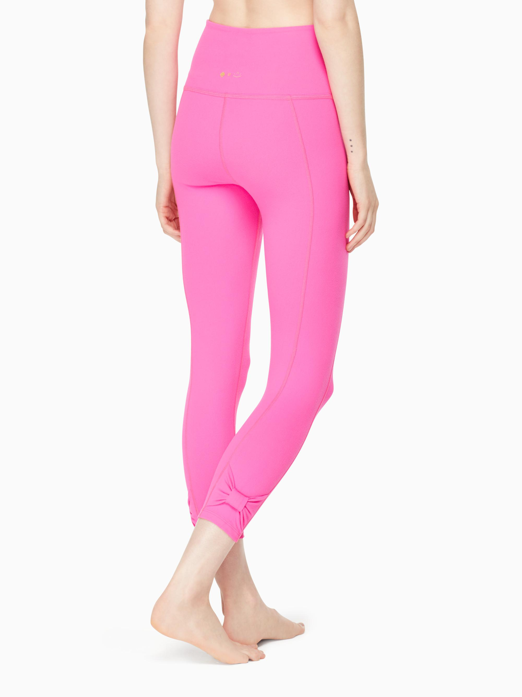 497d3df541de1c Kate Spade Cinched Side Bow High Waisted Capri Legging in Pink - Lyst