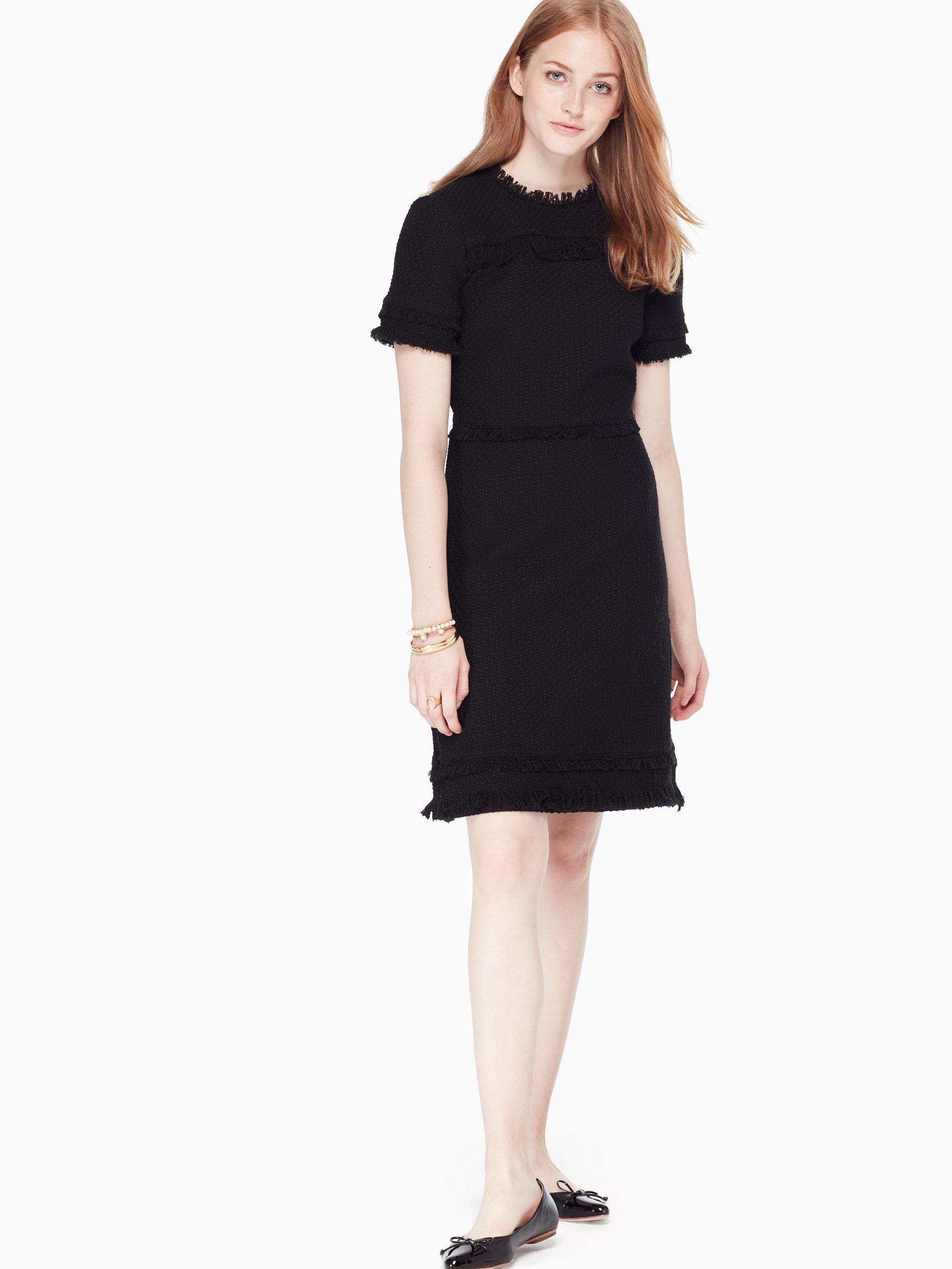 94992f0c06802 Kate Spade - Black Western Tweed Dress - Lyst. View fullscreen