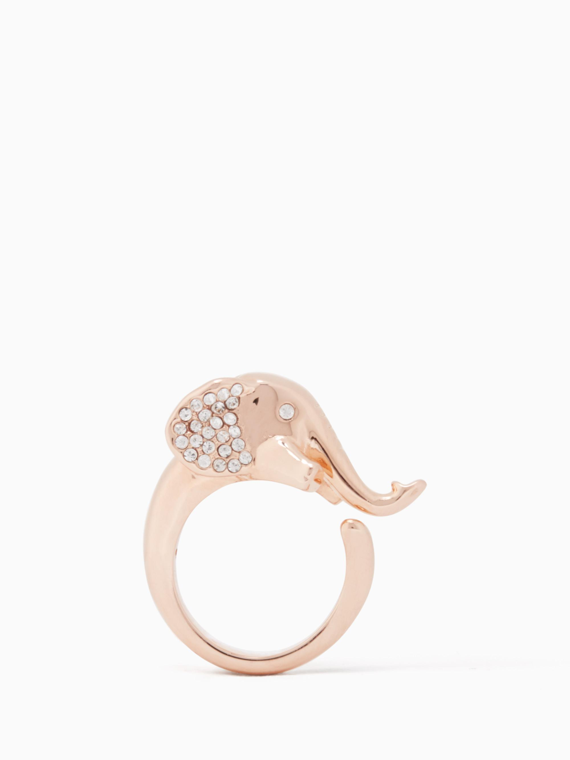 elegant yellow diamond rings engagement elephant gold ring