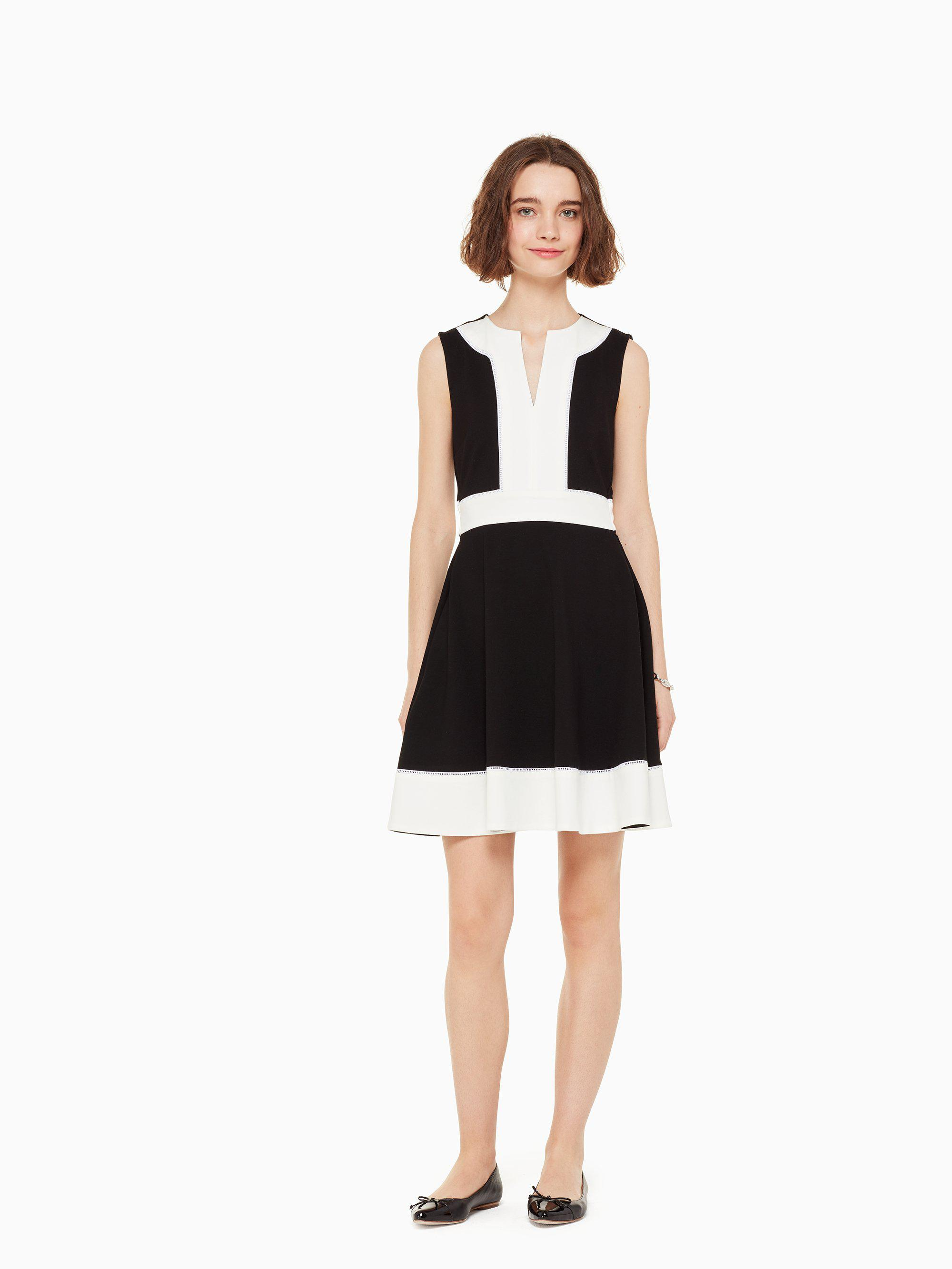 3495b0602c Lyst - Kate Spade Color Block Ponte Dress in Black - Save 58%