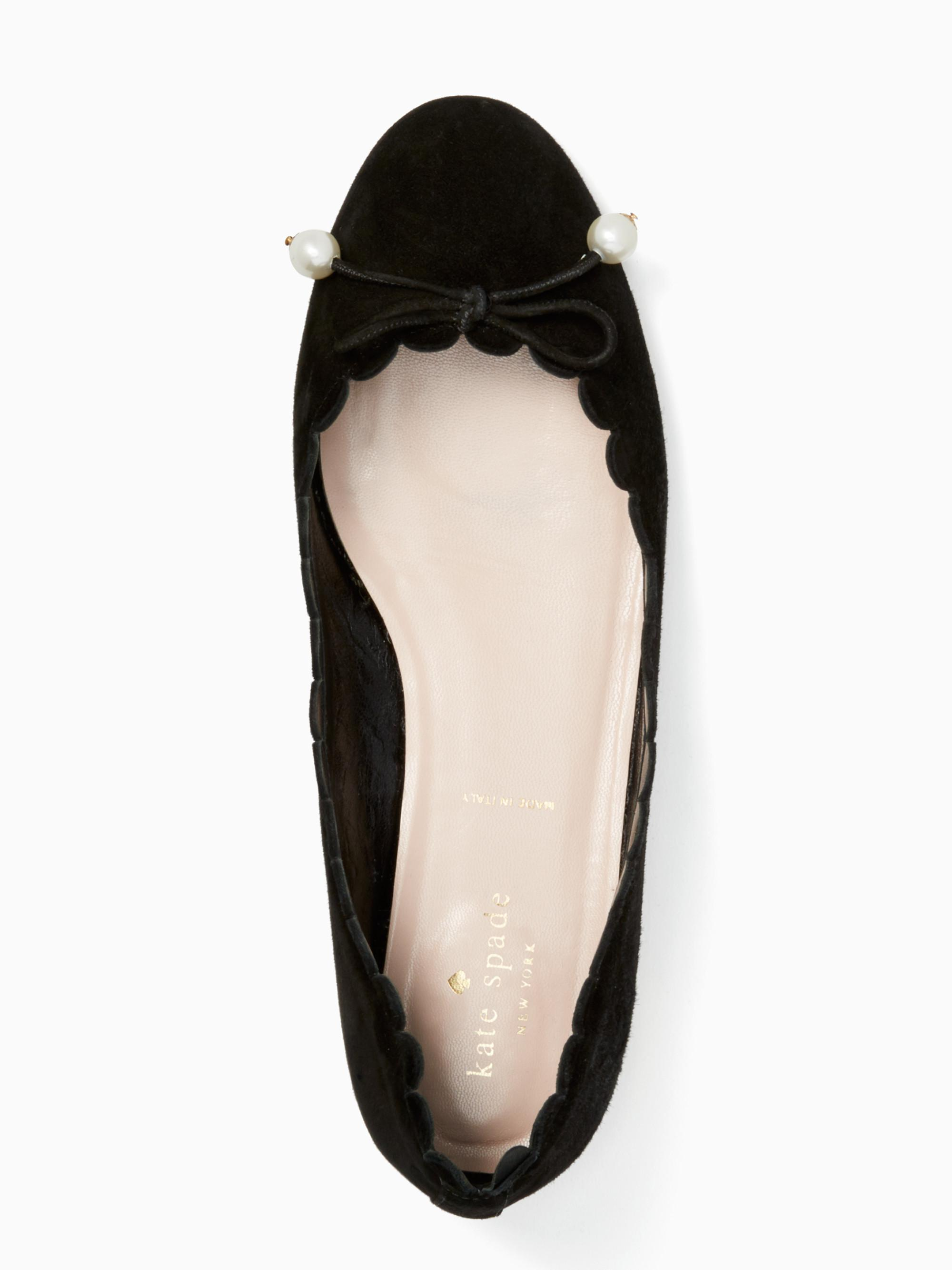 5afc9f35460a Lyst - Kate Spade Murray Flats in Black