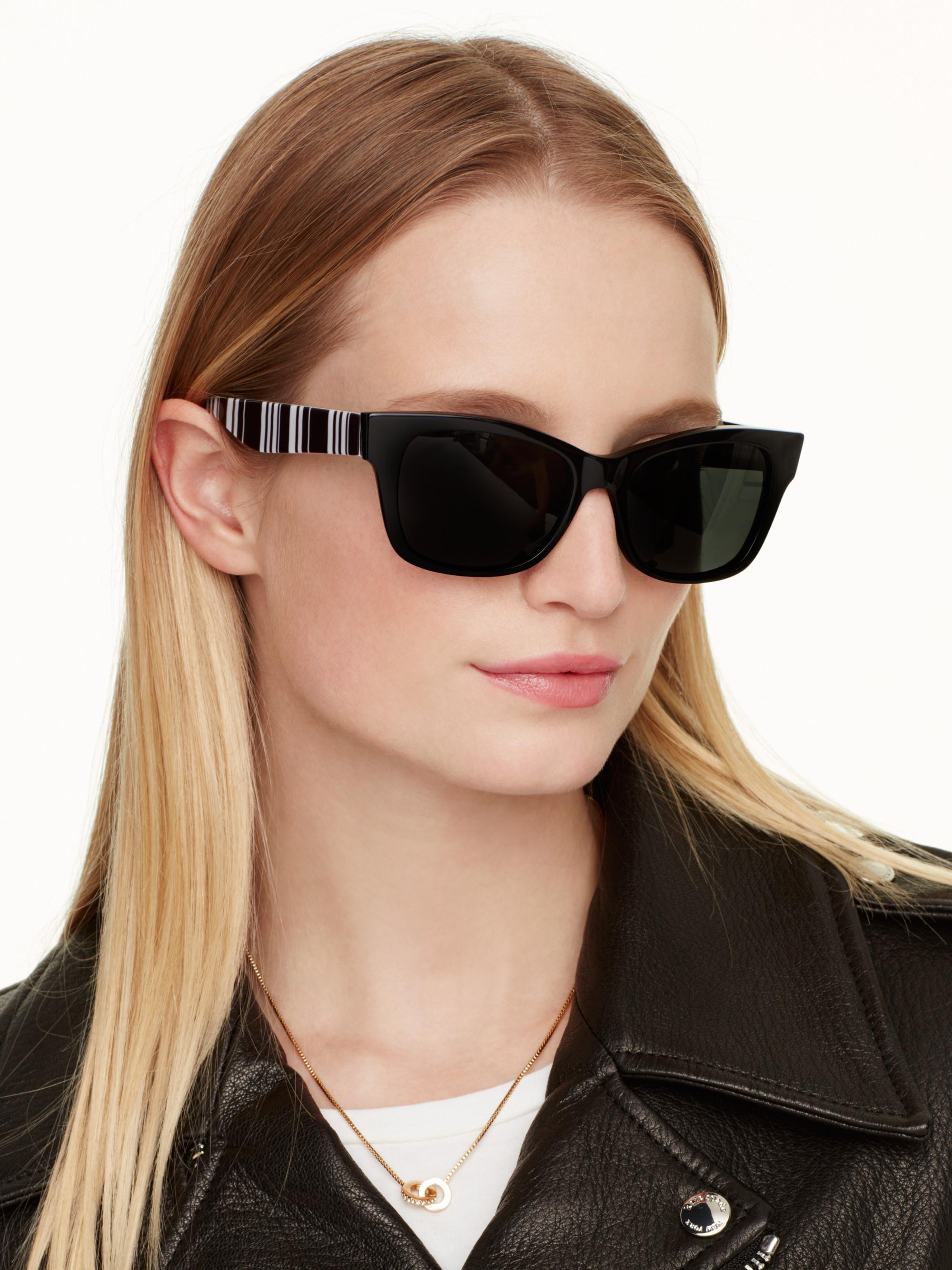 552f680a402 Lyst - Kate Spade Alora Polarized Sunglasses in Black