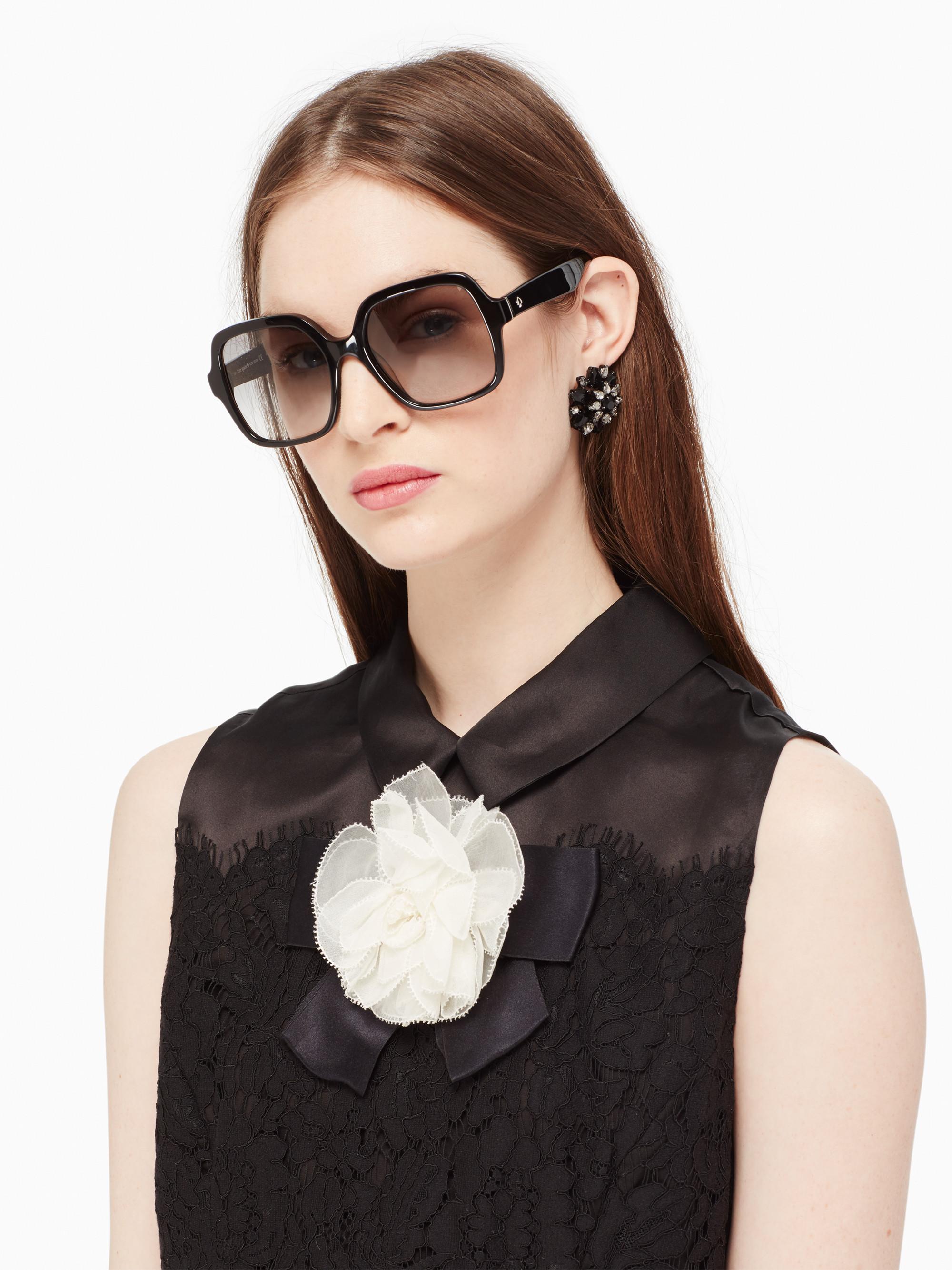 f602a34de9 Lyst - Kate Spade Katelee Sunglasses in Black