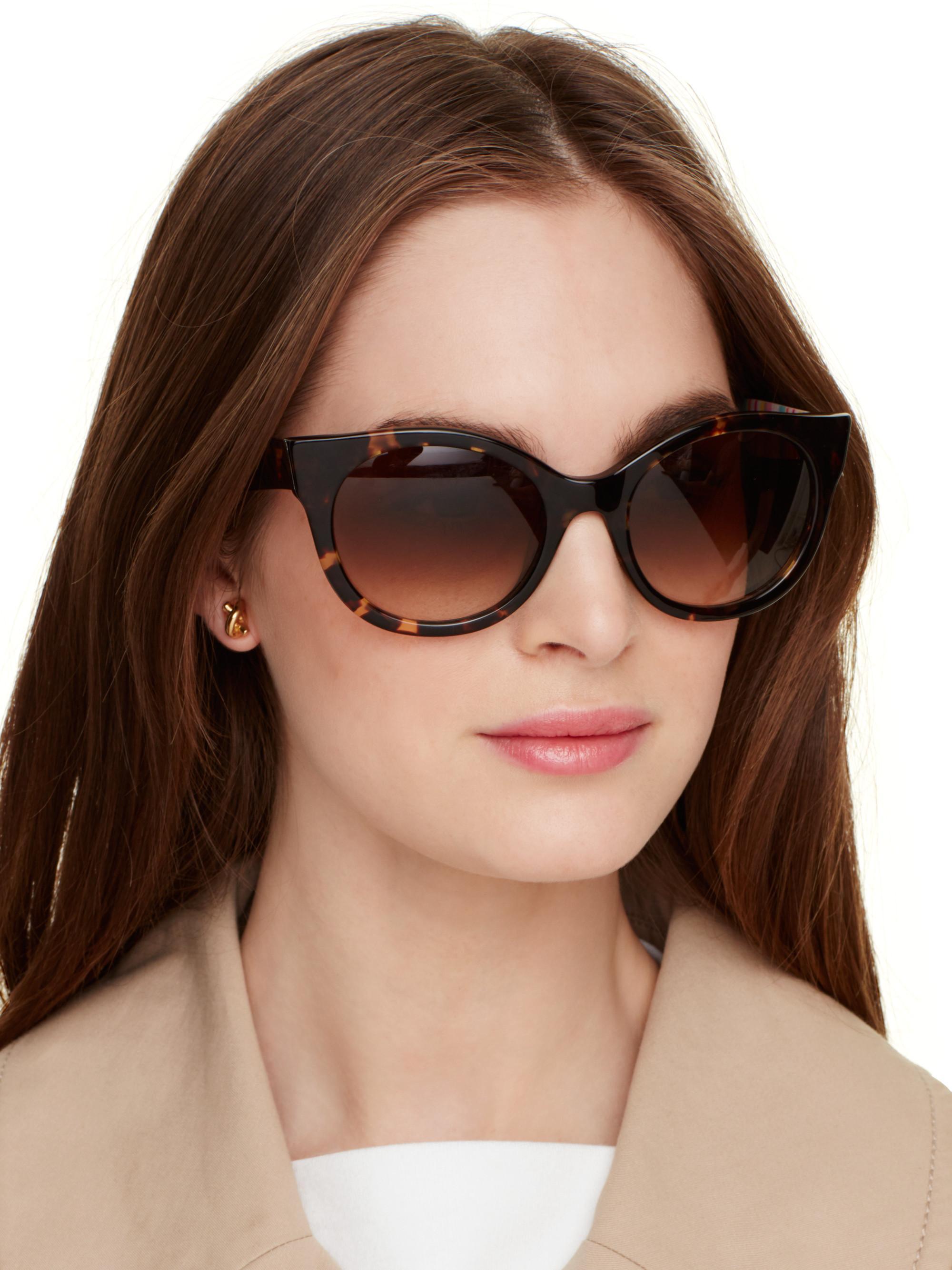 7f1f6240e3 Lyst - Kate Spade Melly Sunglasses in Black