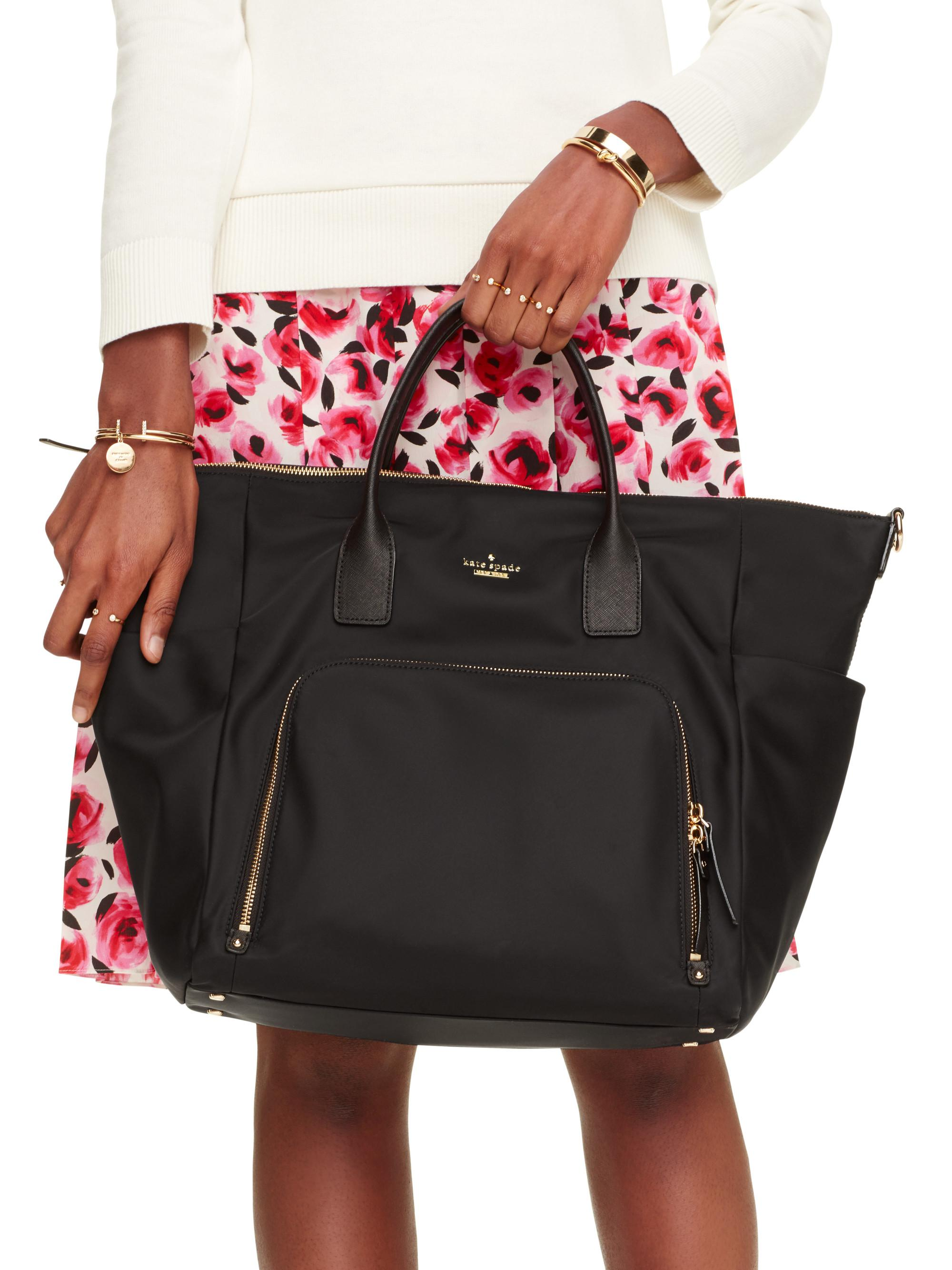 Kate Spade Hildy Classic Nylon Baby Bag In Black Lyst
