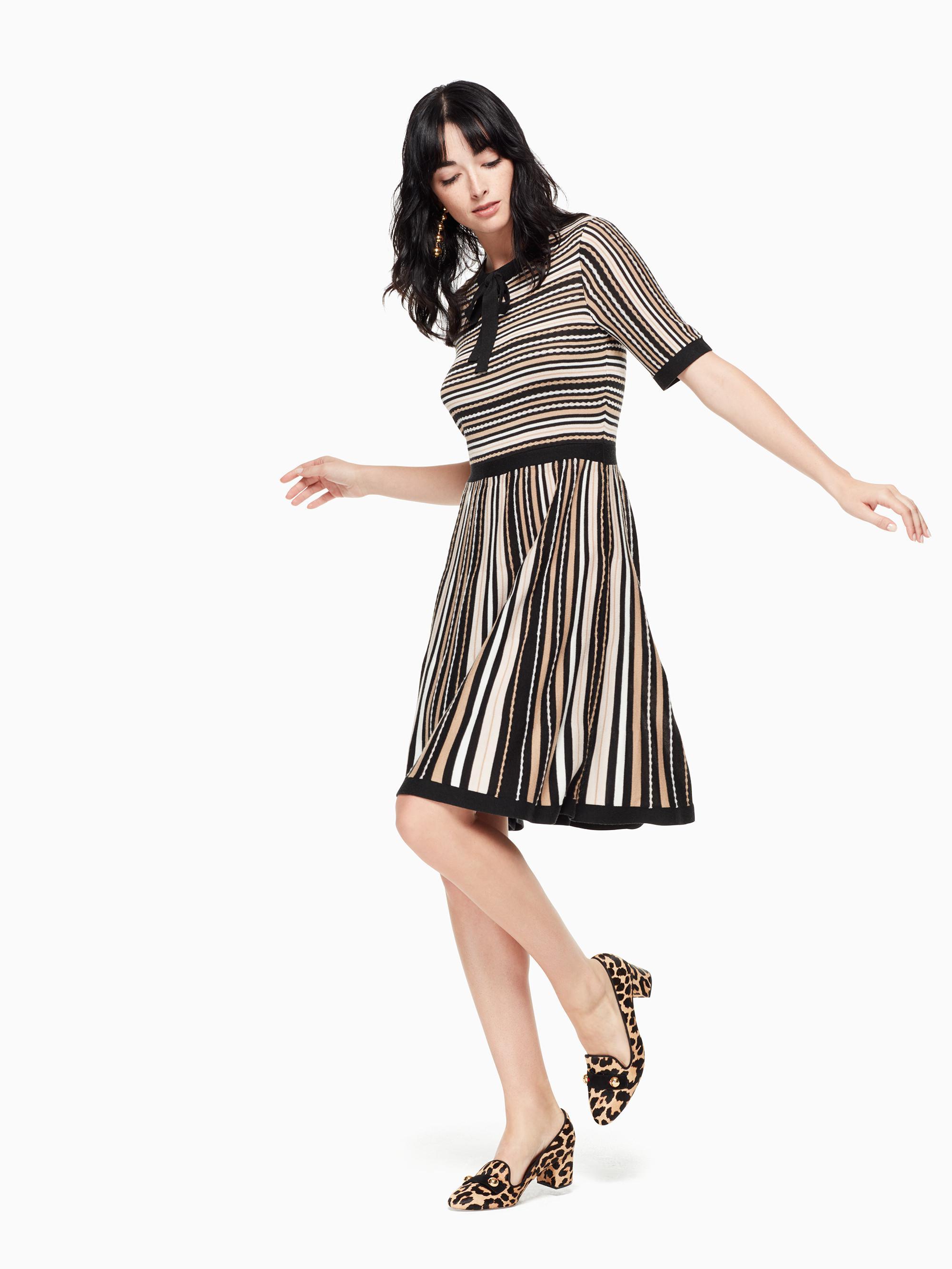 fd990e9afbac Lyst - Kate Spade Multi Stripe Sweater Dress in Black