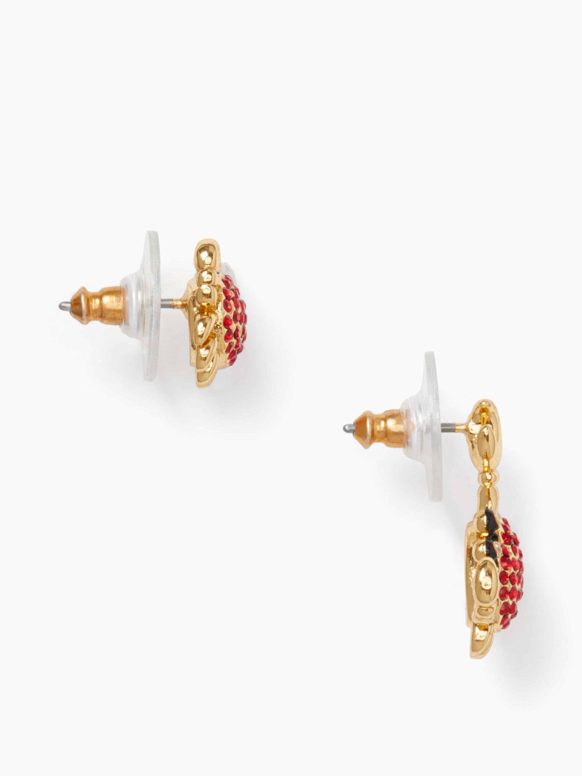 af7046338 Kate Spade Shore Thing Pave Crab Studs - Lyst