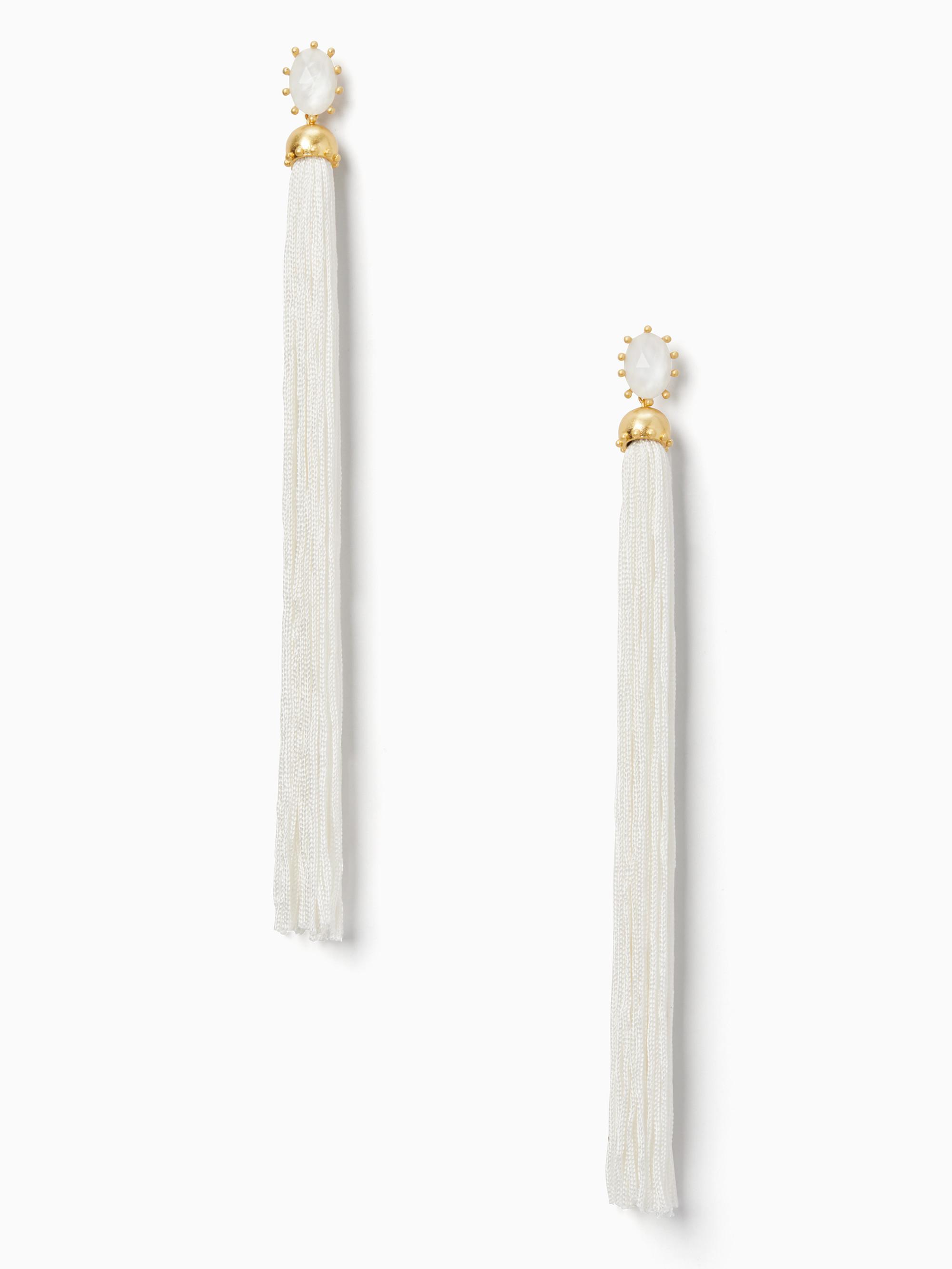 Lyst Kate Spade Flying Colors Tassel Statement Earrings In White