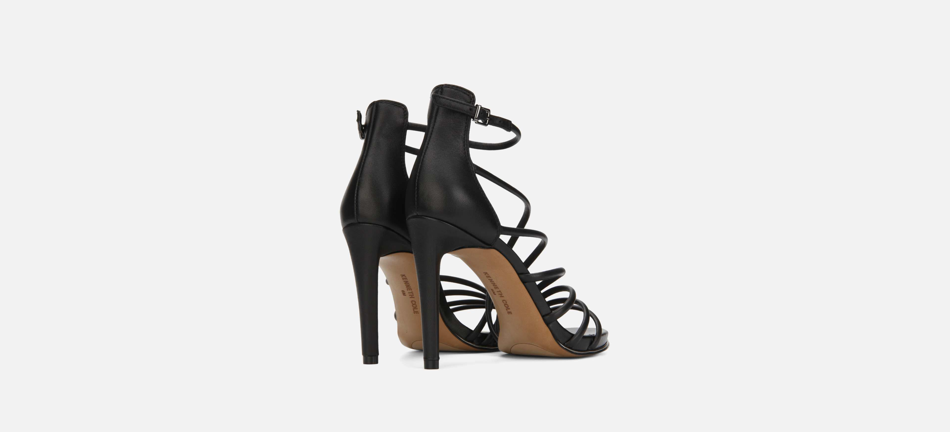 61425a5d71a5 Lyst - Kenneth Cole Barletta Strappy Leather Stiletto Heel in Black