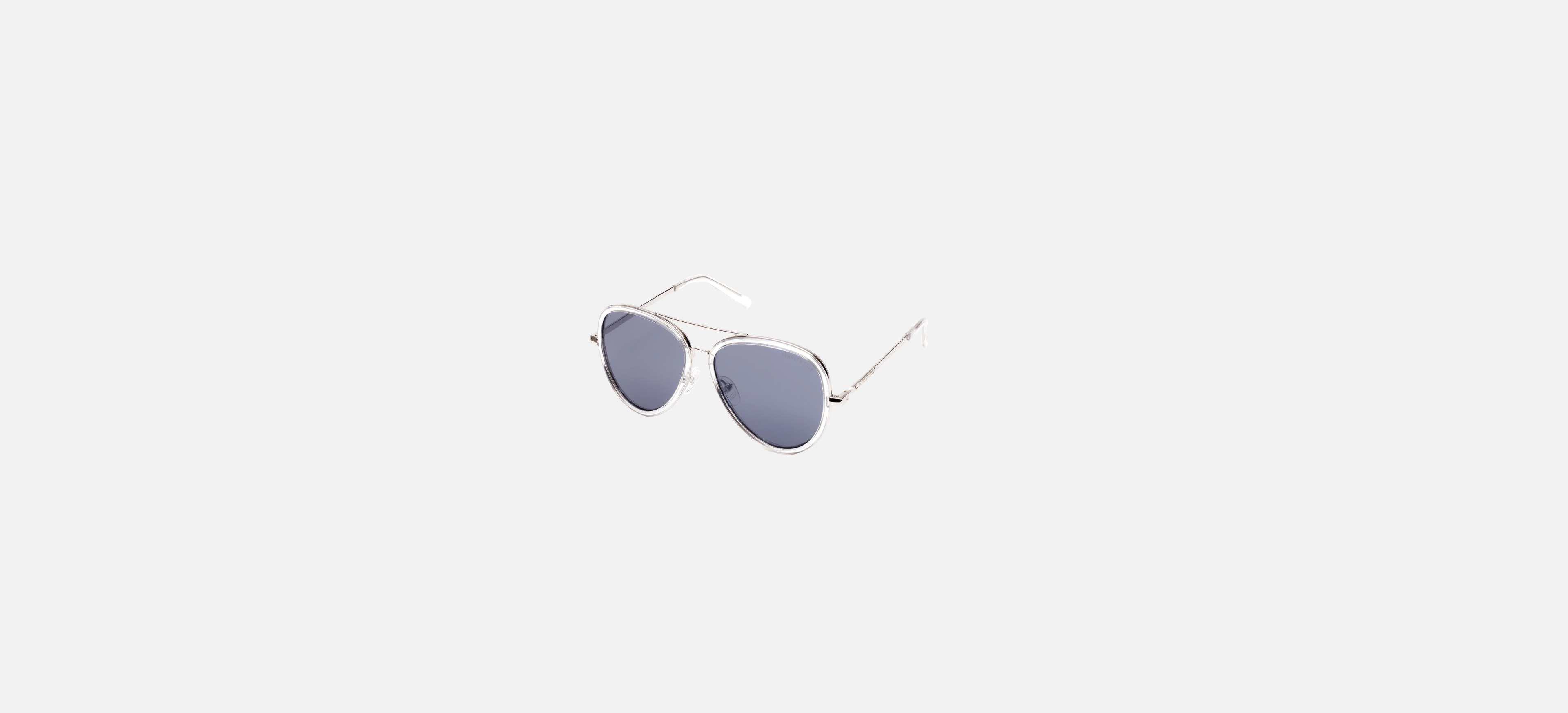 186ac058edd Kenneth Cole. Men s Metallic Crystal Clear Double Bridge Aviator Sunglasses  ...