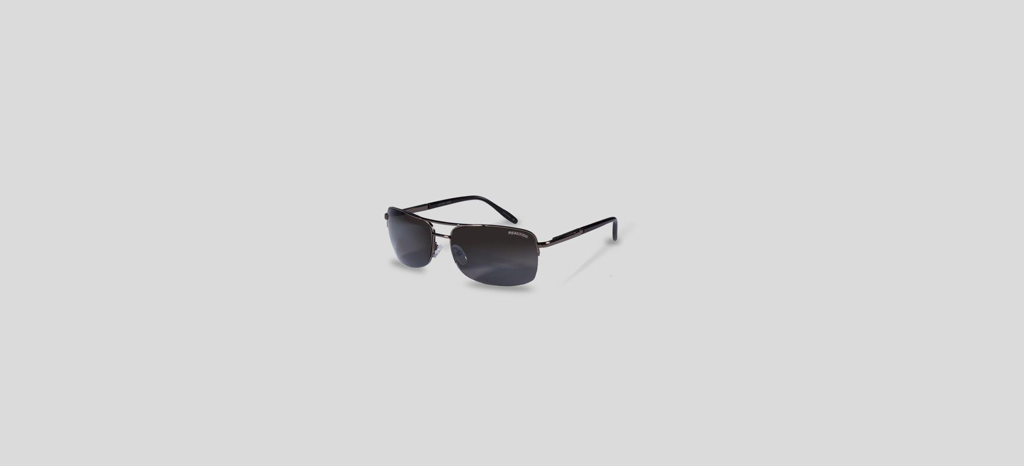 Shiny Black Vintage Smoke Sunglasses Kenneth Cole Reaction