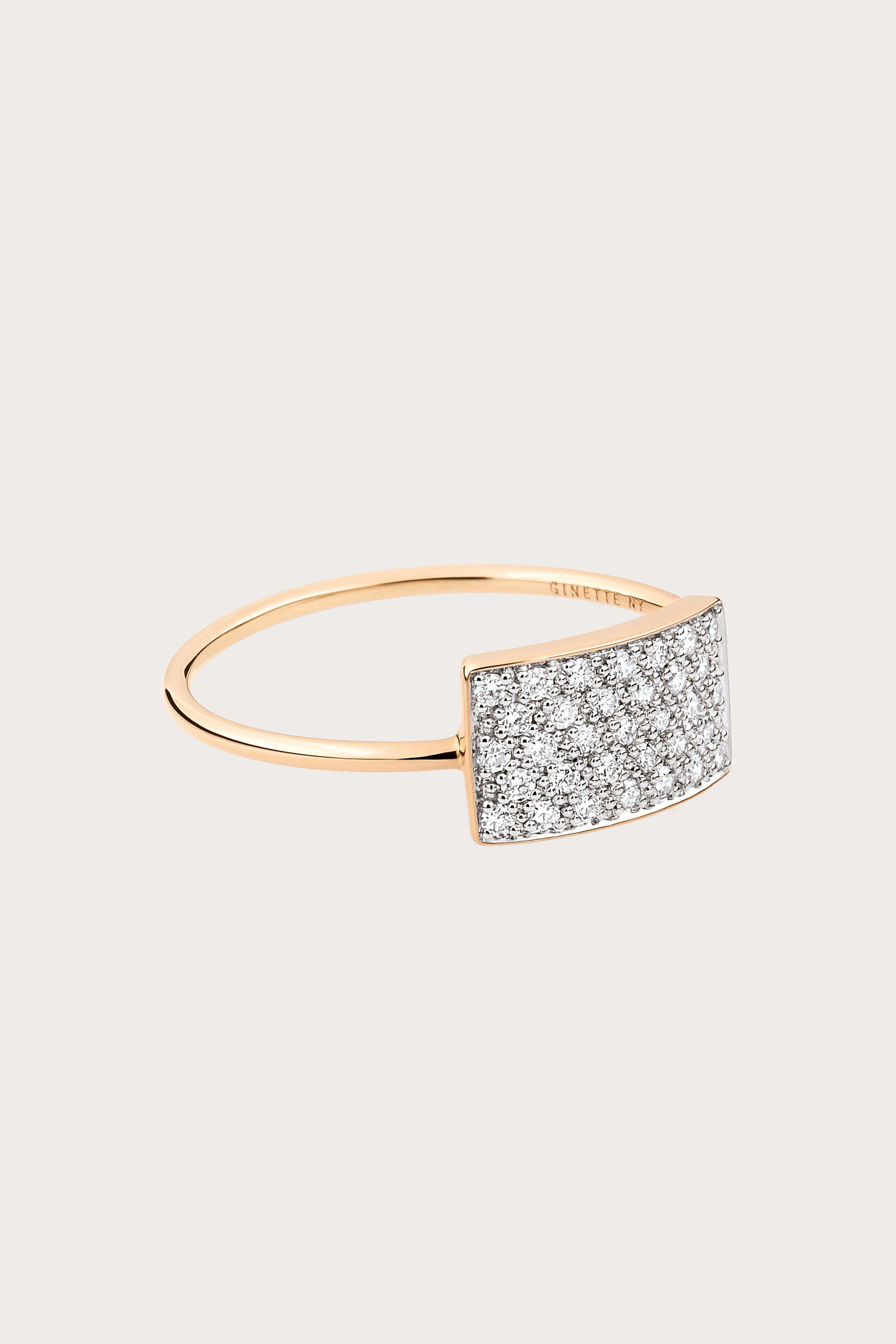 Ever Onyx Rectangle 18-karat rose gold ring Ginette NY Tk0Yf8t