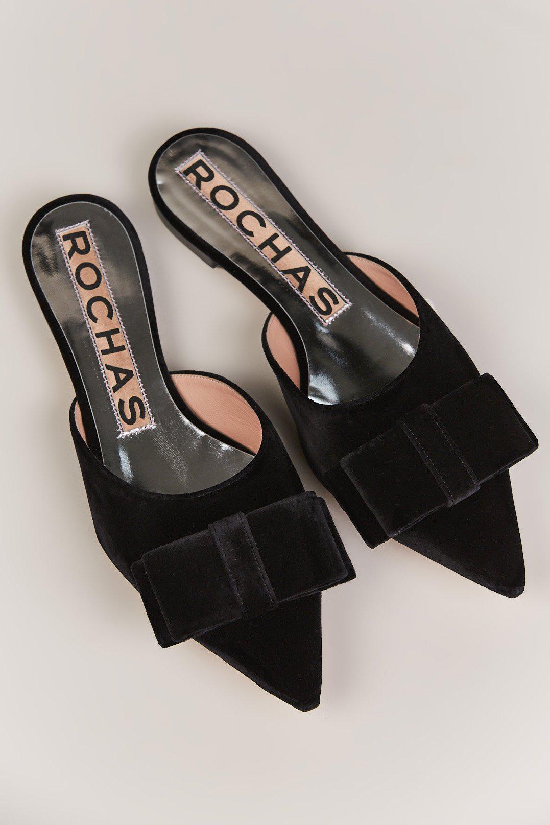 premium selection 7ad7e cf510 rochas--Velvet-Bow-Slides.jpeg