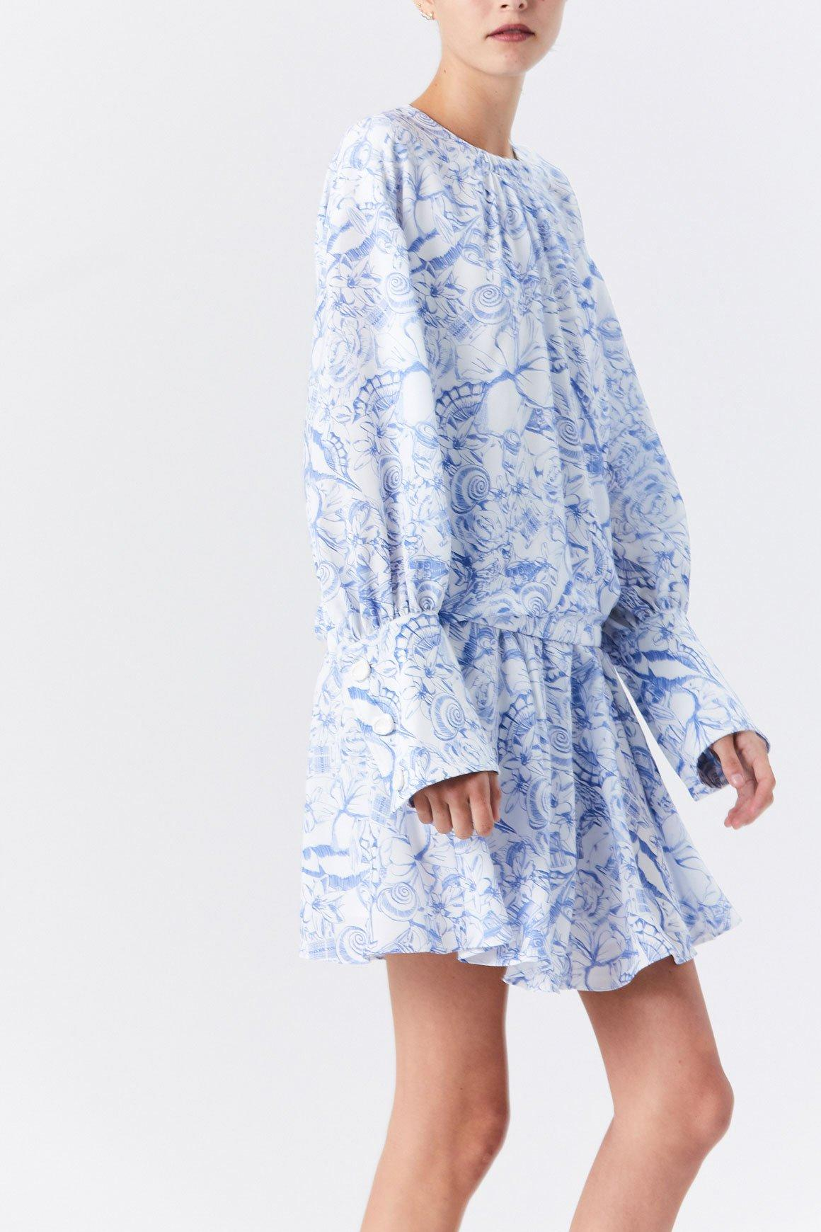 0d7040ee30 Lyst - Tibi Isa Toile Short Shirt Dress in Blue