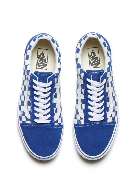 eb0544aba88dcf Lyst - Vans Vans Old Skool Blue  White Checkerboard in Blue for Men