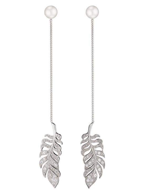 Axenoff Jewellery leaf drop earrings - Metallic zkfGvTw1