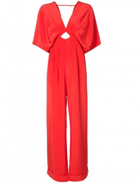 349fc141da Johanna Ortiz Canna Bow-embellished Silk Crepe De Chine Jumpsuit in ...