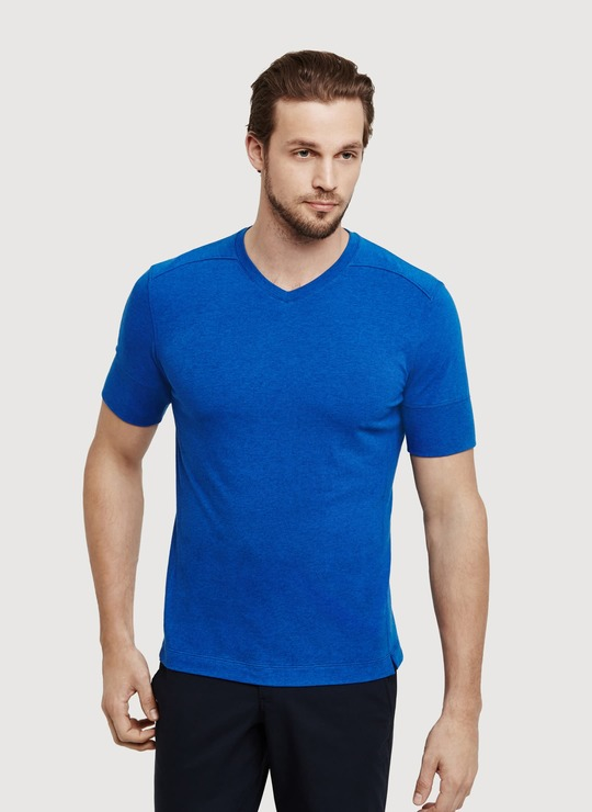 Kit And Ace V Tee in Blue for Men
