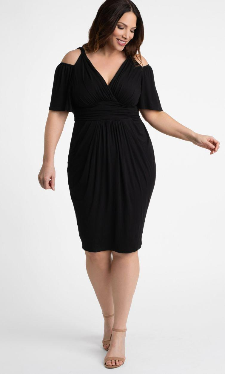 fc8813e26e3 Lyst - Kiyonna Tantalizing Twist Dress in Black - Save 5%