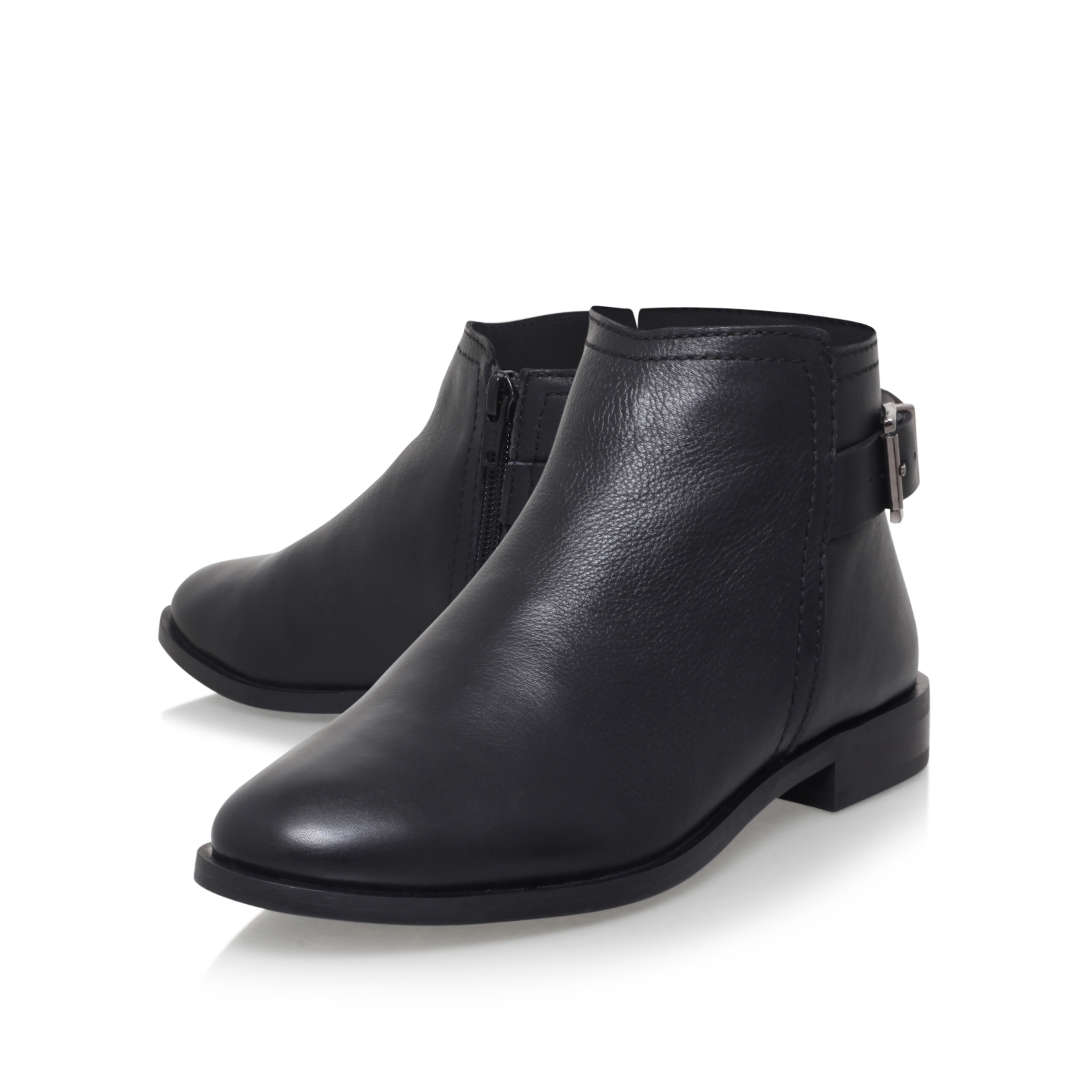 carvela kurt geiger potion flat ankle boots in black lyst