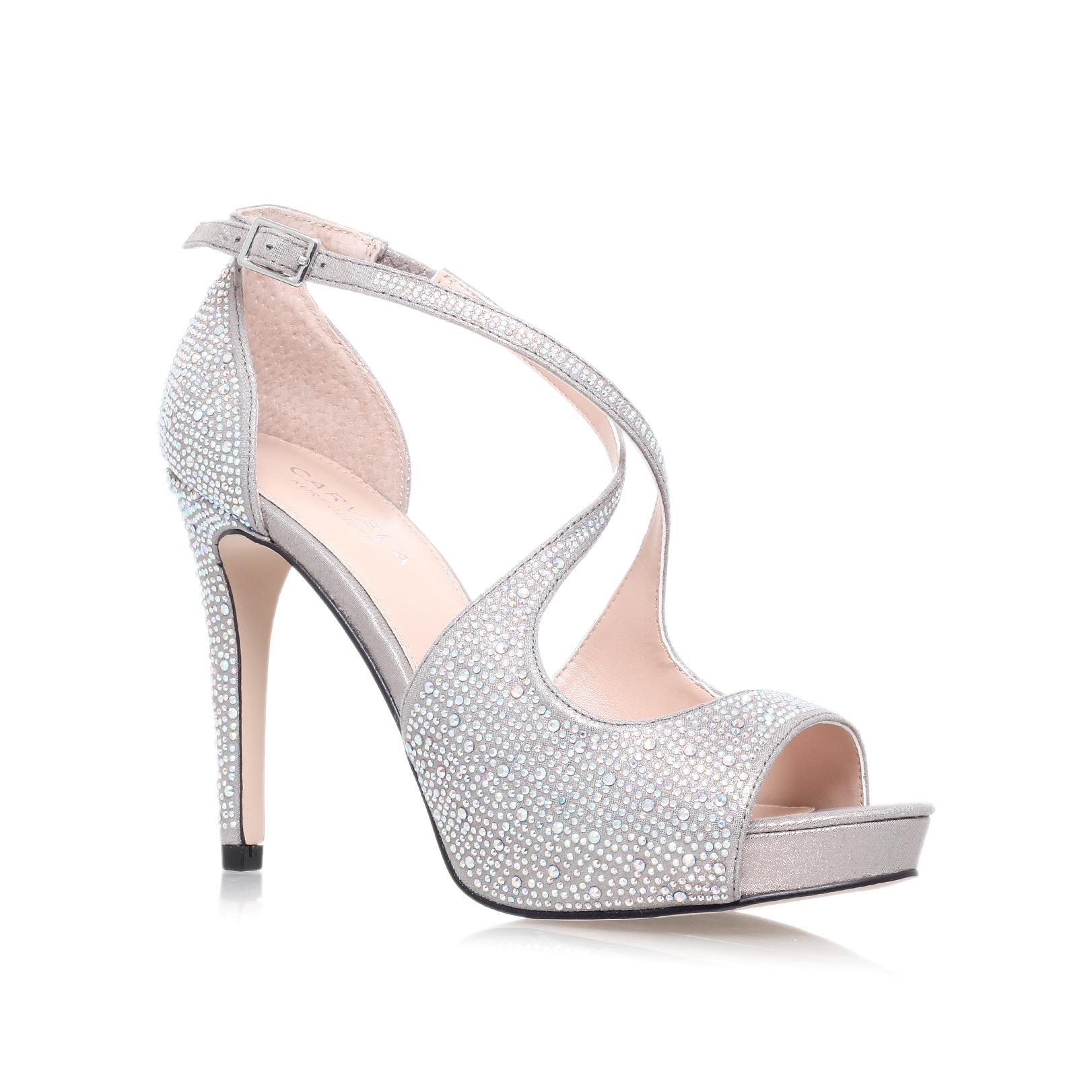 carvela kurt geiger gift high heel sandals in metallic save 21 lyst. Black Bedroom Furniture Sets. Home Design Ideas
