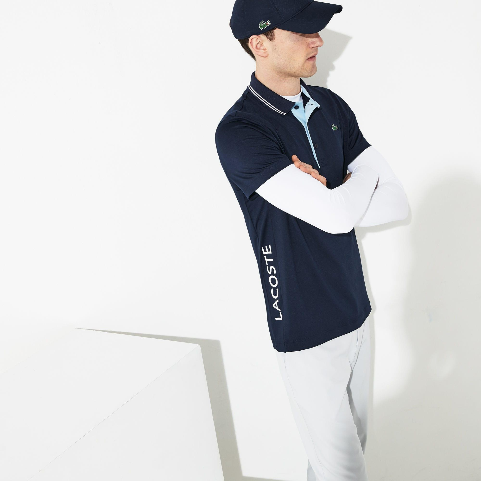 b31ef6de Lacoste - Blue Sport Lettering Stretch Technical Jersey Golf Polo Shirt for  Men - Lyst. View fullscreen